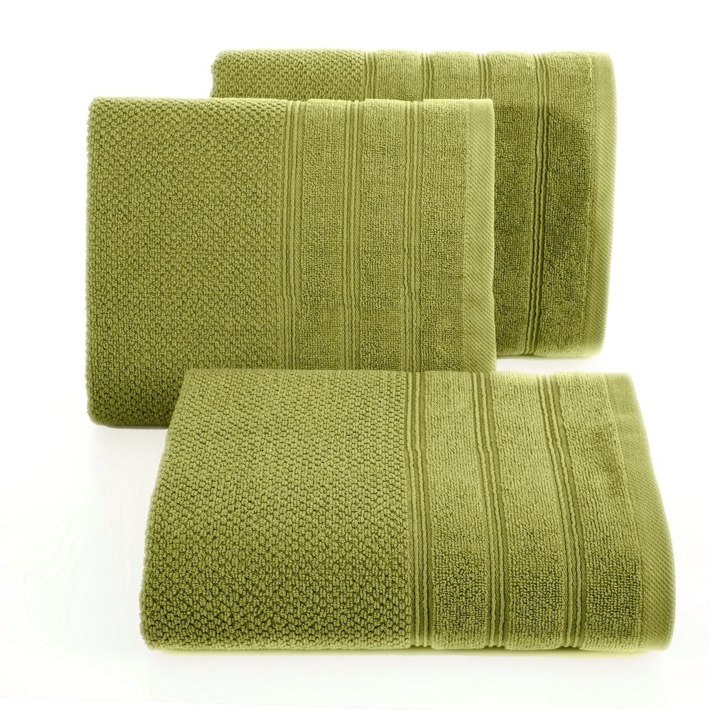 Bawełniany ręcznik kąpielowy frote oliwkowy 50x90