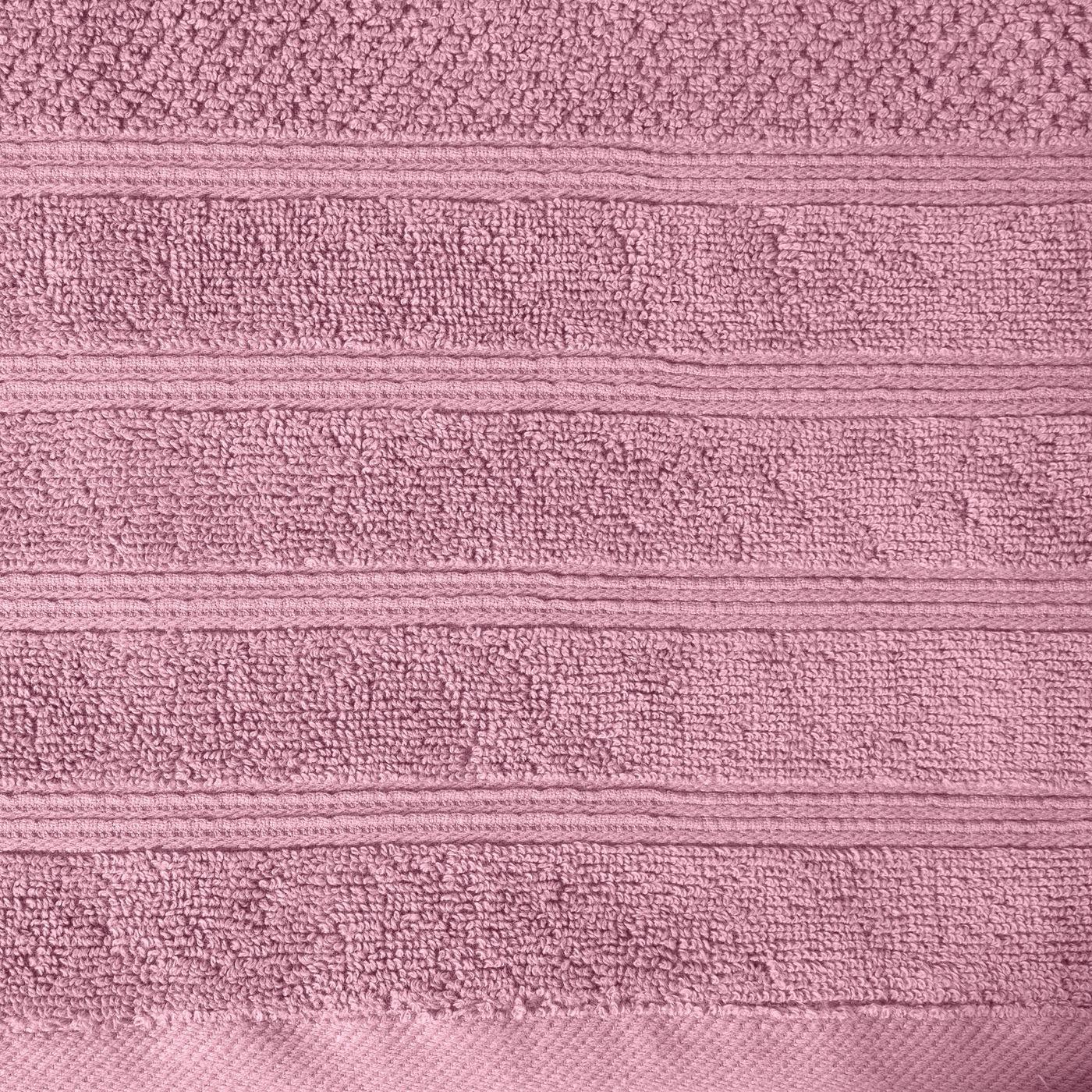 Bawełniany ręcznik kąpielowy frote liliowy 70x140