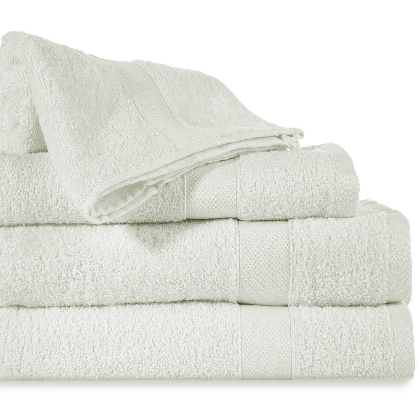 Miękki chłonny ręcznik kąpielowy kremowy 50x90