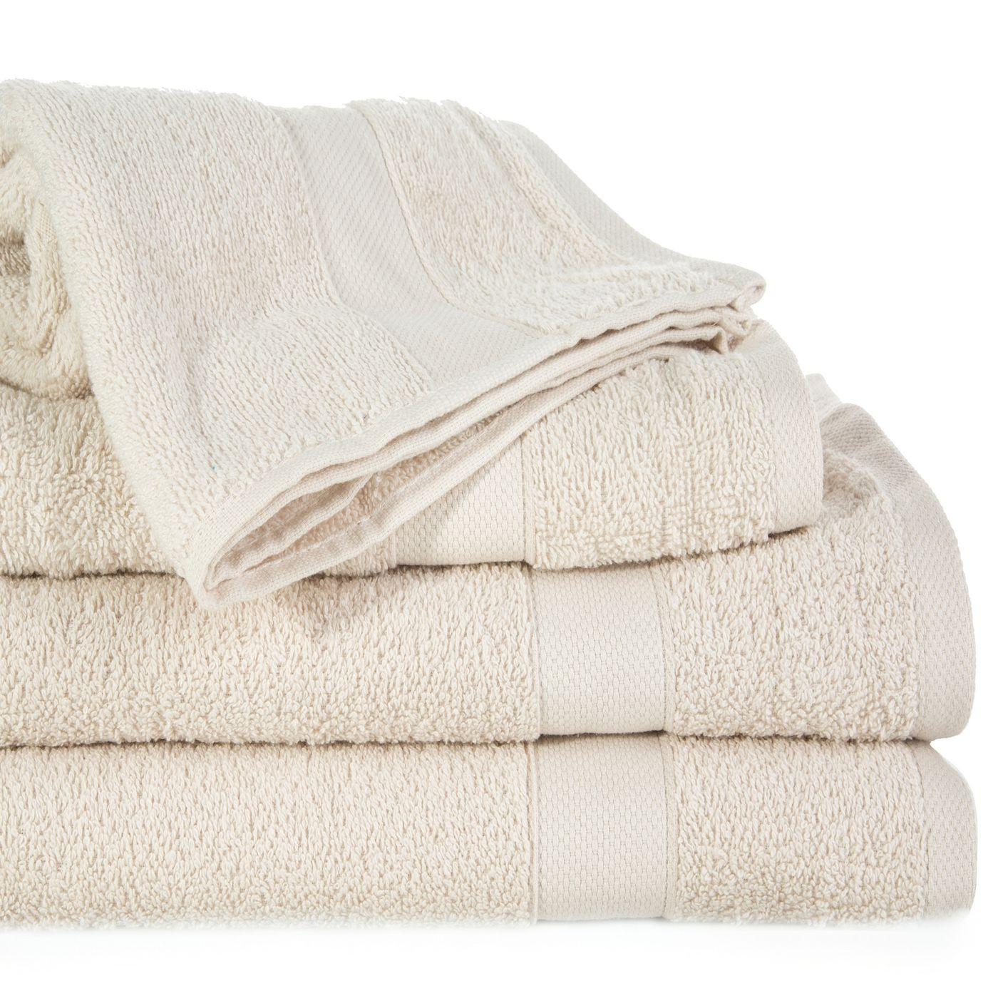 Miękki chłonny ręcznik kąpielowy beżowy 50x90