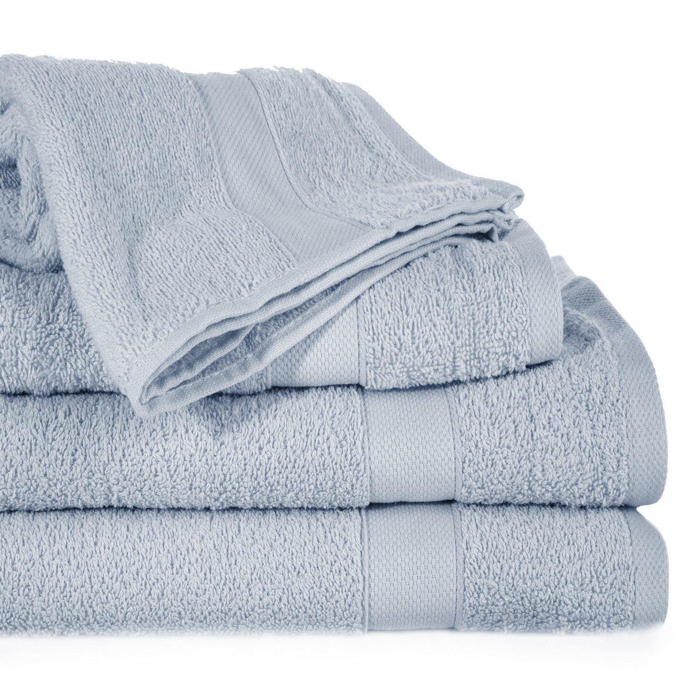 Miękki chłonny ręcznik kąpielowy srebrny 50x90