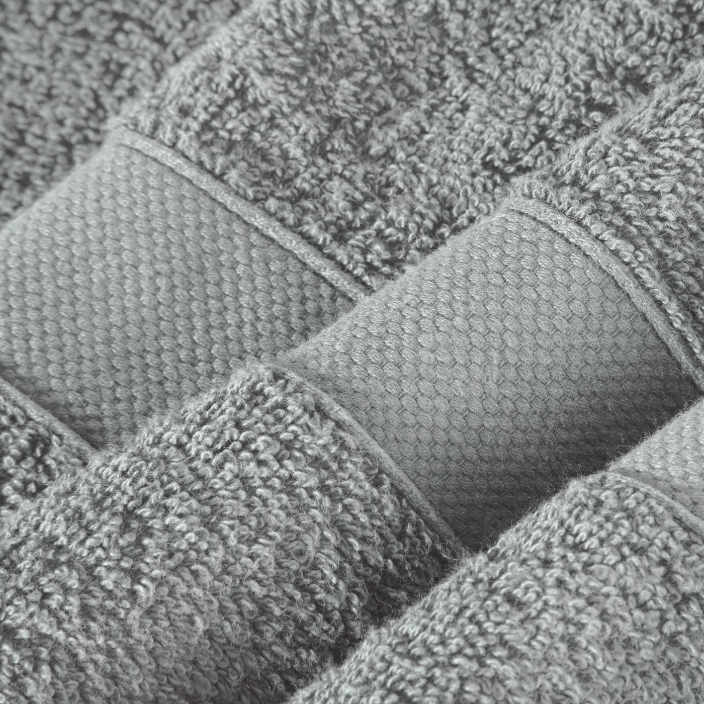Miękki chłonny ręcznik kąpielowy stalowy 50x90