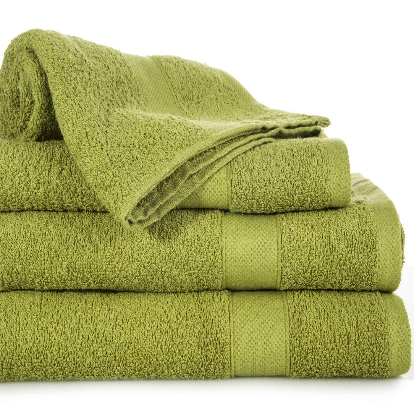 Miękki chłonny ręcznik kąpielowy oliwkowy 50x90