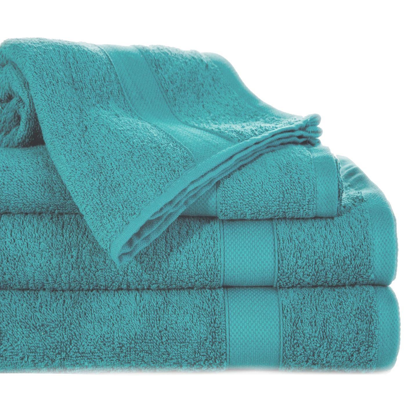 Miękki chłonny ręcznik kąpielowy turkusowy 50x90