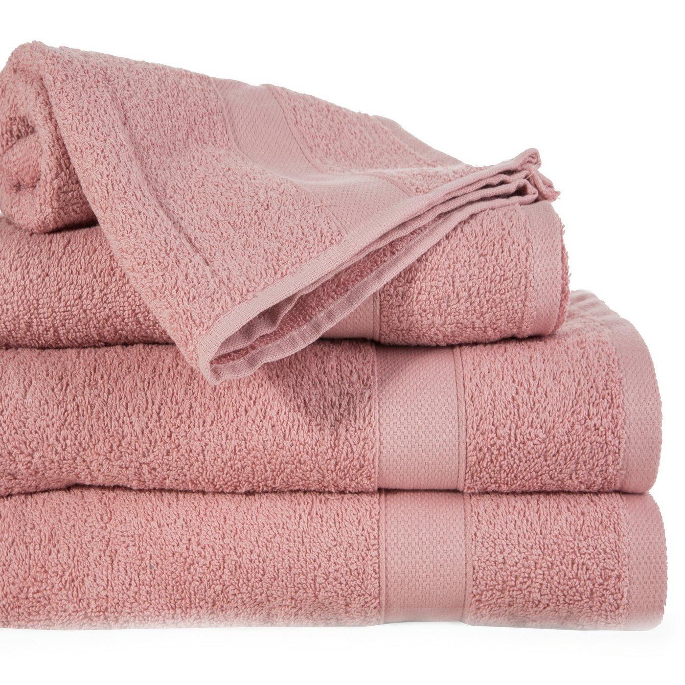 Miękki chłonny ręcznik kąpielowy liliowy 50x90