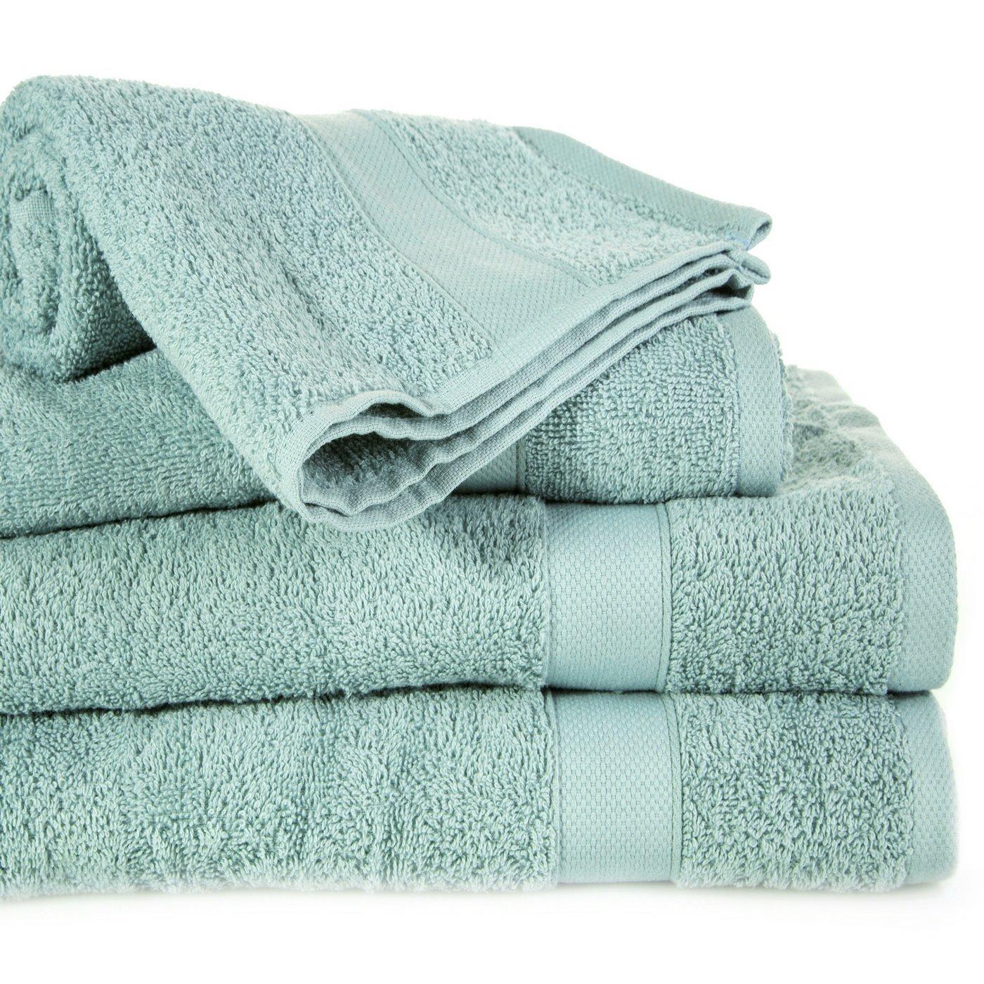 Miękki chłonny ręcznik kąpielowy miętowy 50x90