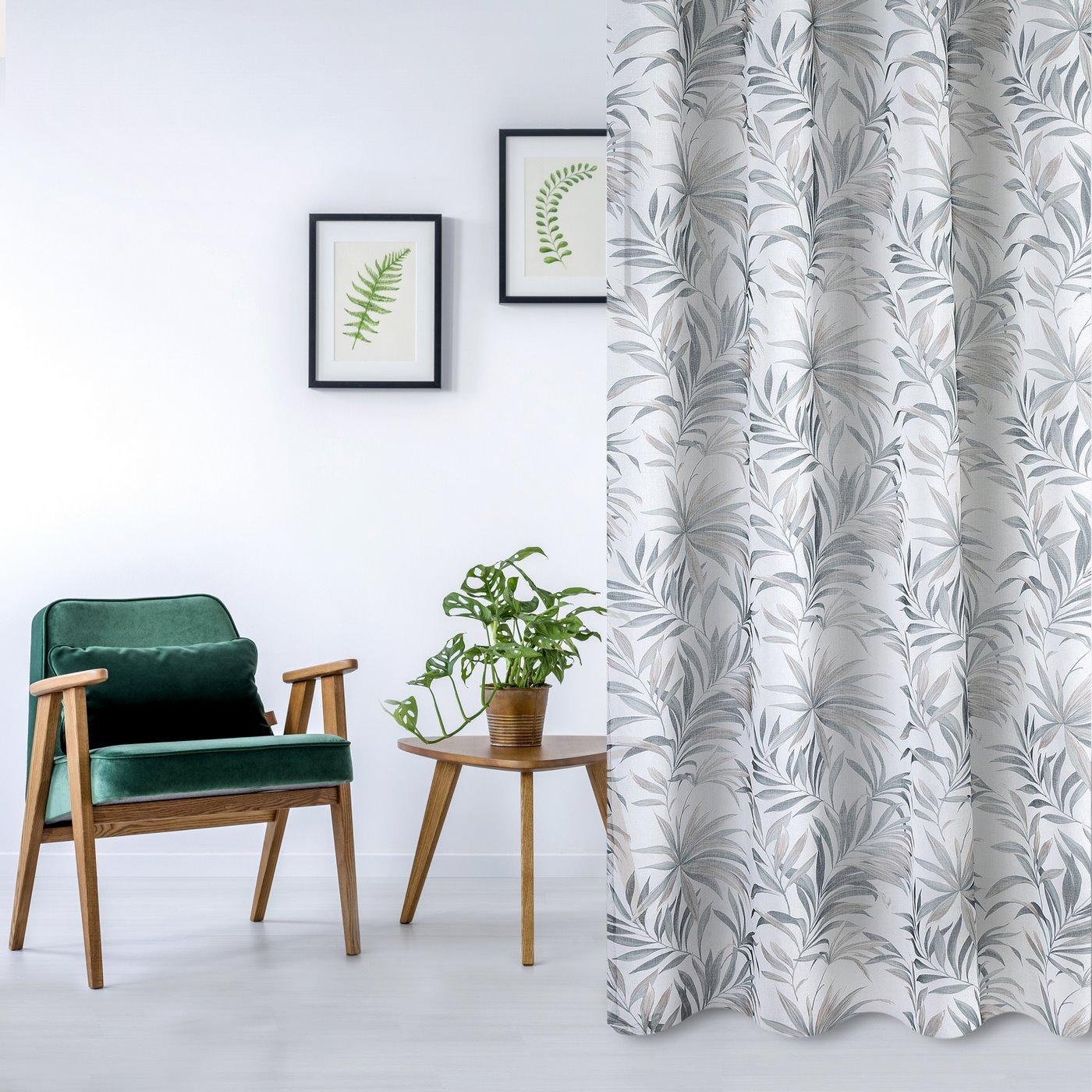 Zasłona w liście palmowe nancy na przelotkach 140x250