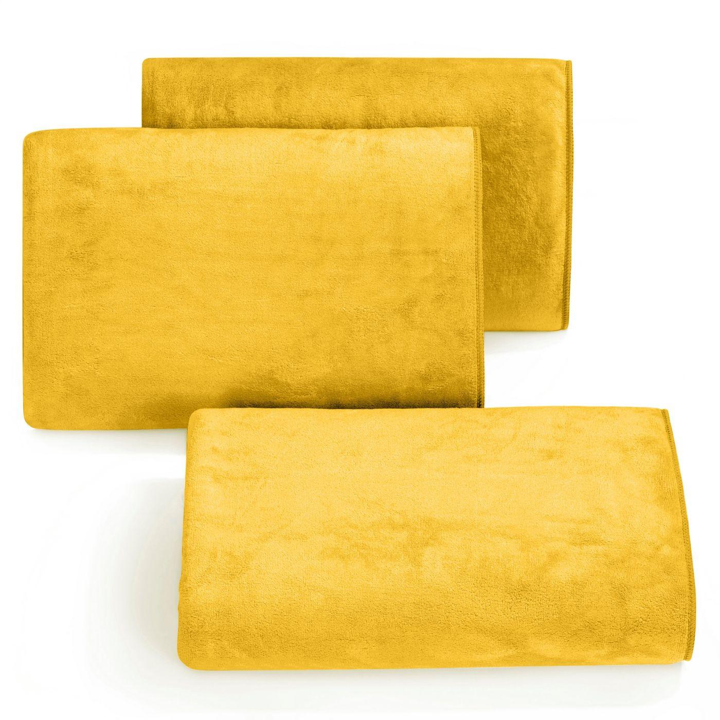 Ręcznik z mikrofibry szybkoschnący musztardowy 50x90cm