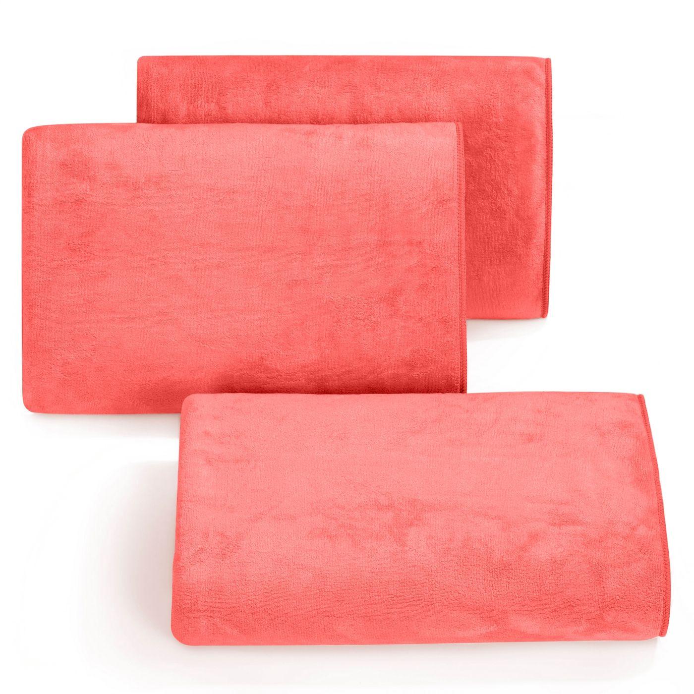 Ręcznik z mikrofibry szybkoschnący koralowy 30x30cm