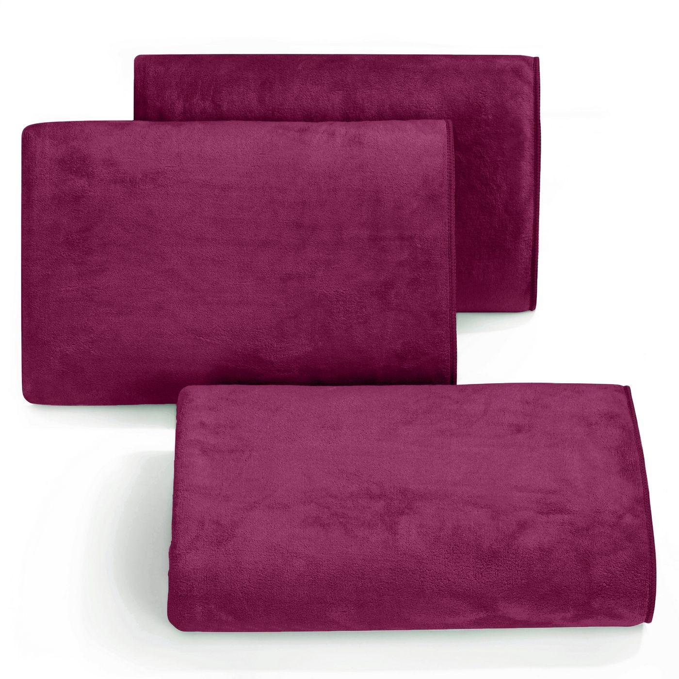 Ręcznik z mikrofibry szybkoschnący amarantowy 30x30cm