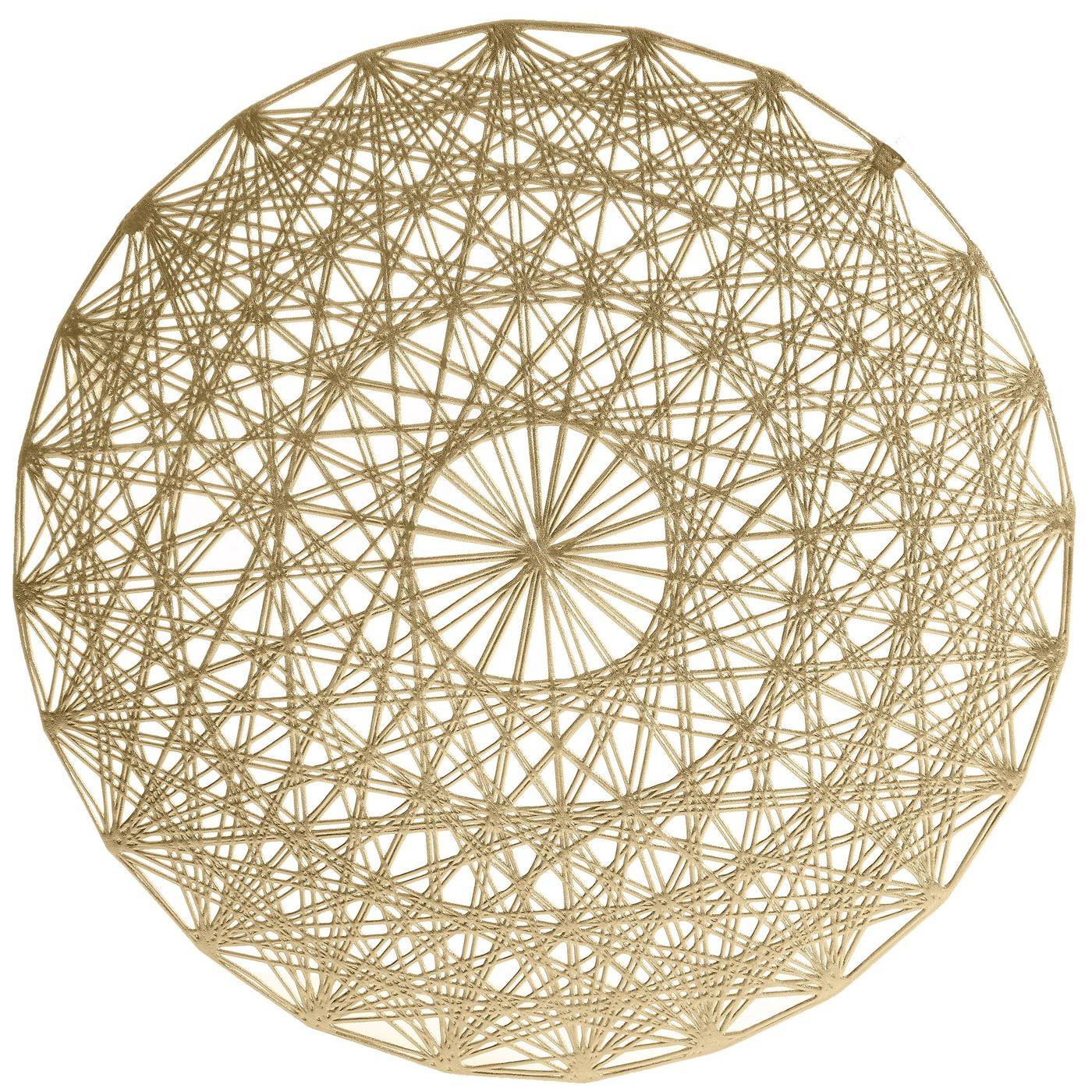 Ażurowa podkładka stołowa złota średnica 38 cm