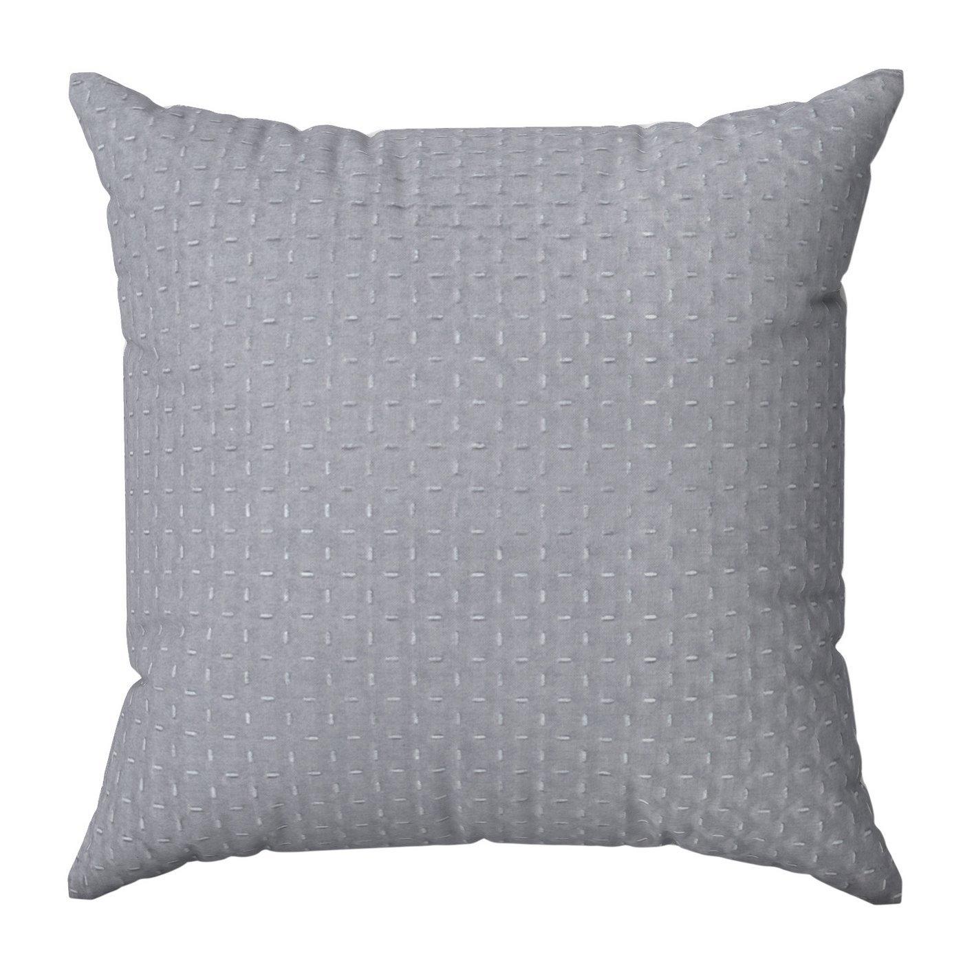 Poszewka na poduszkę pikowana hot press 40 x 40 cm srebrno-różowa