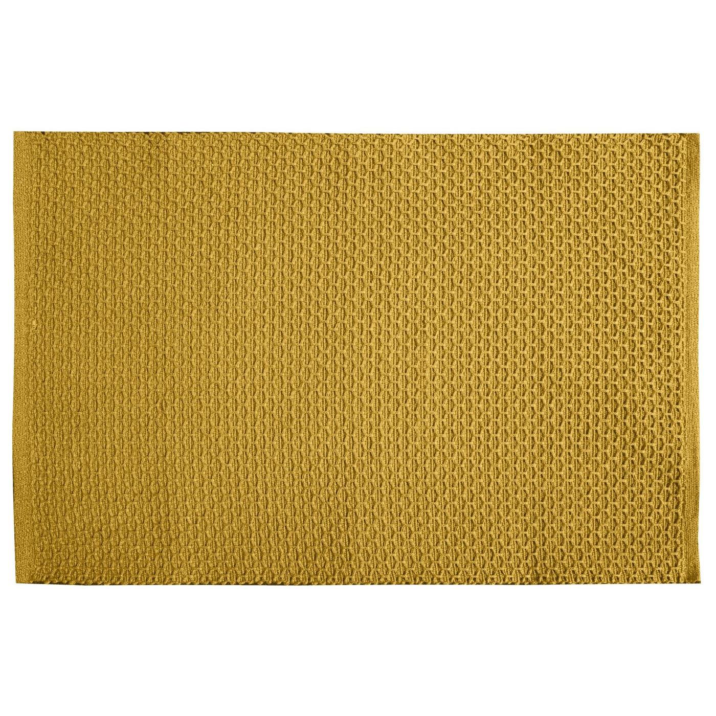 Jednokolorowa podkładka stołowa plaster miodu musztardowa 33x48 cm