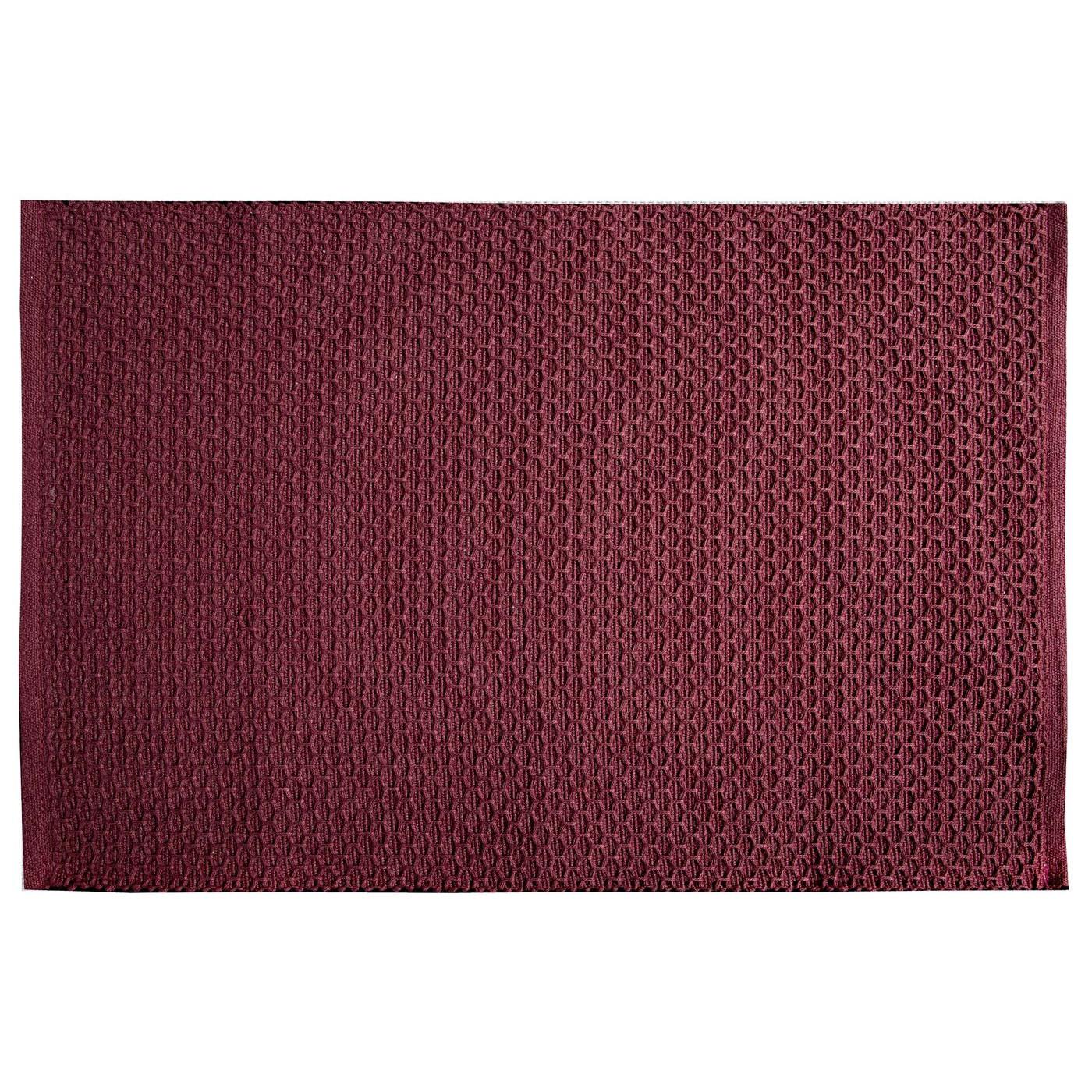 Jednokolorowa podkładka stołowa plaster miodu bordowa 33x48 cm