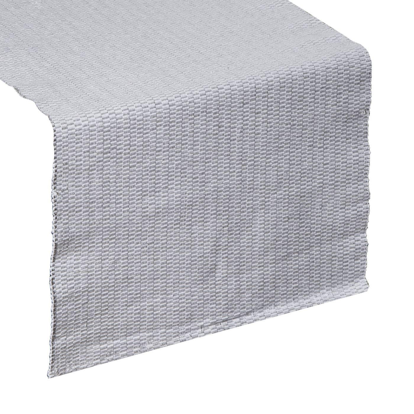 Strukturalny bieżnik na stół stalowy szary 40x140 cm