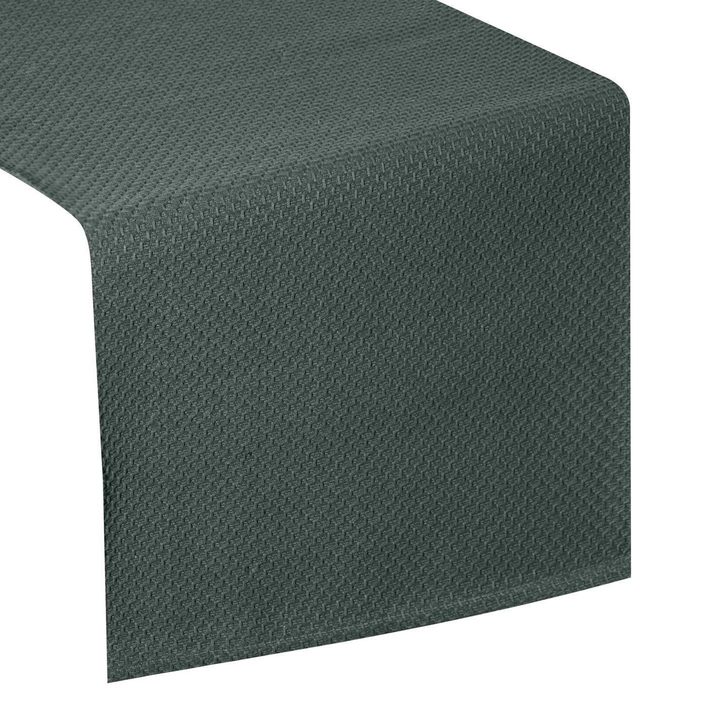 Ciemny zielony bieżnik na stół bawełniany 40x140 cm