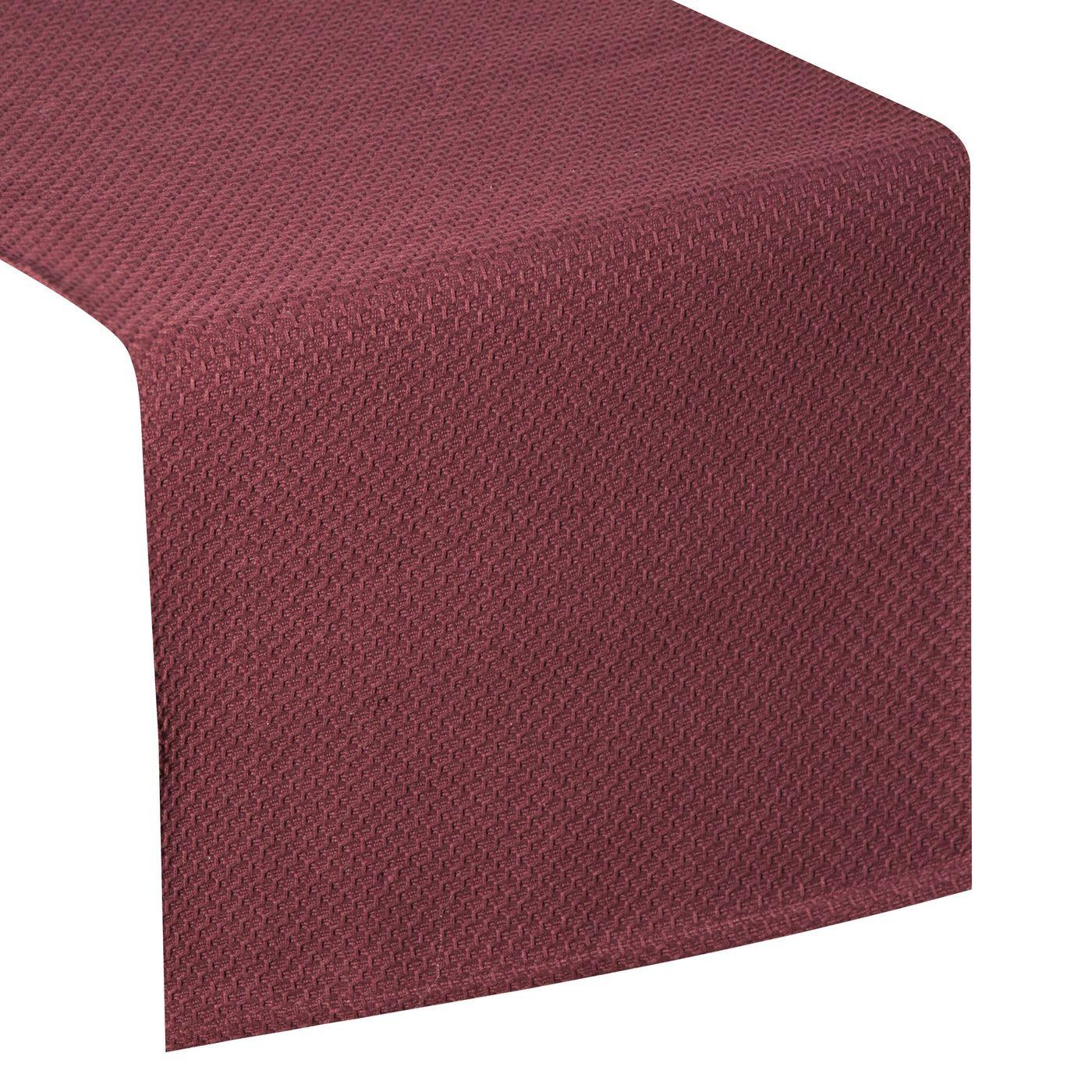 Bordowy bieżnik na stół bawełniany 40x140 cm