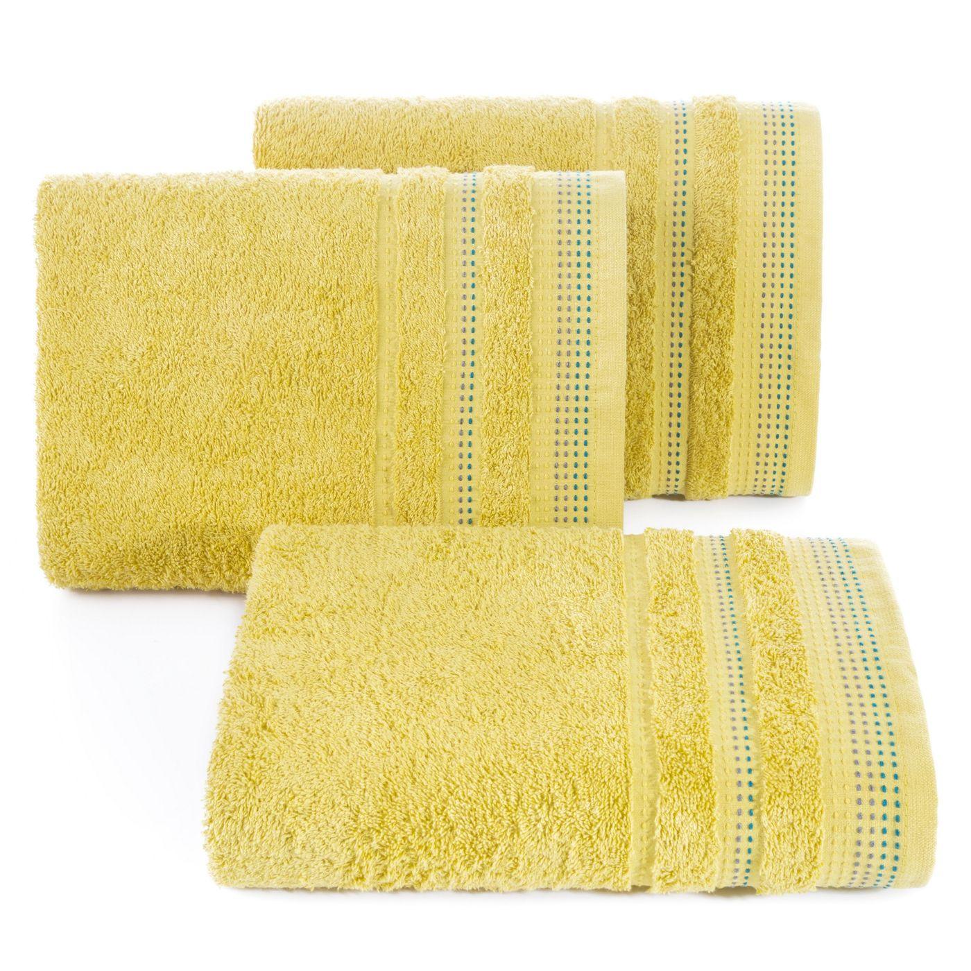 Miękki bawełniany ręcznik kąpielowy 50x90 cm musztardowy