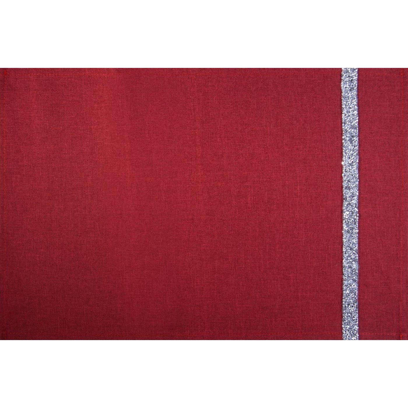 Czerwona nakładka na stół do jadalni 30x50 cm