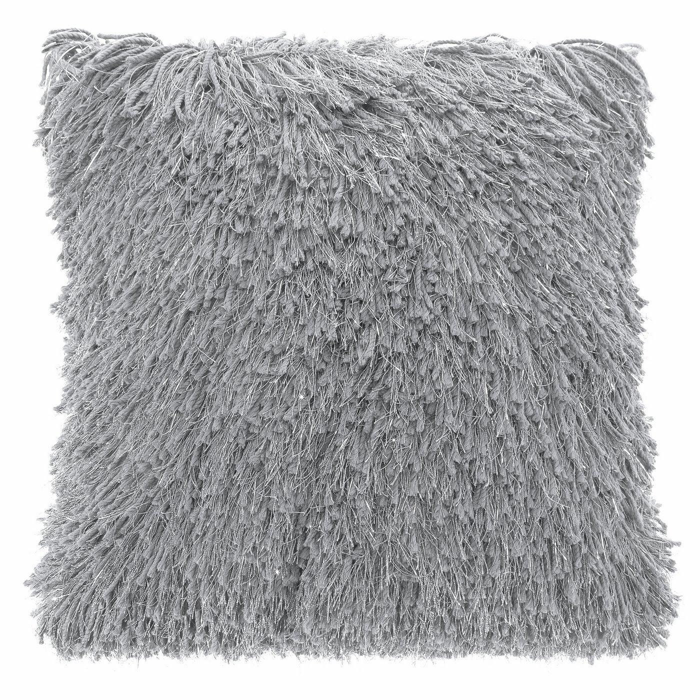 Stalowy POSZEWKA FUTERKOWA ze srebrną nicią 40x40 cm