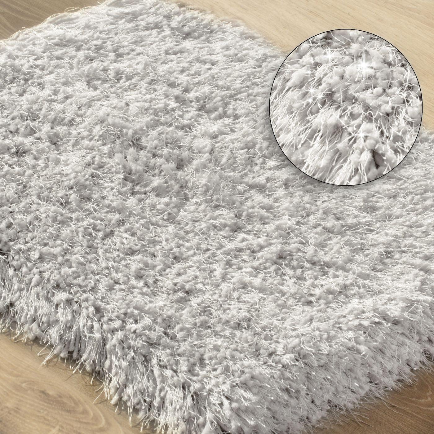 Ozdobny dywanik z błyszcząca nicią beżowy 60x90 cm