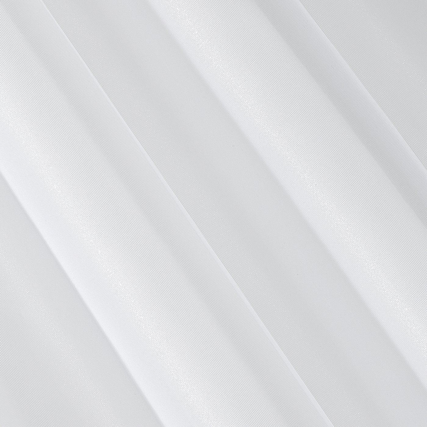 Gładka BIAŁA FIRANA na taśmie szeroka 350x250 cm