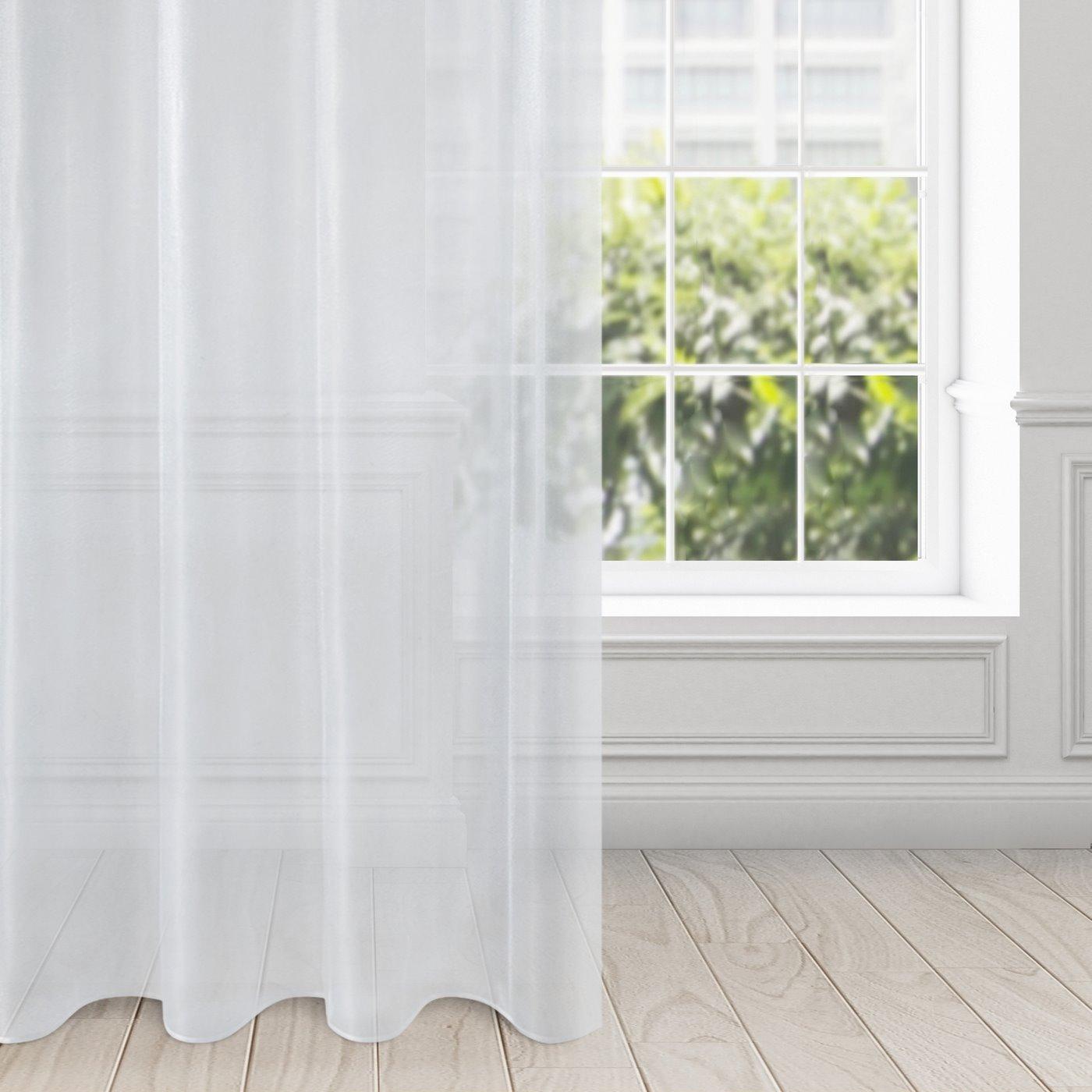 Zasłona zwiewna biała przelotki 135x250 cm