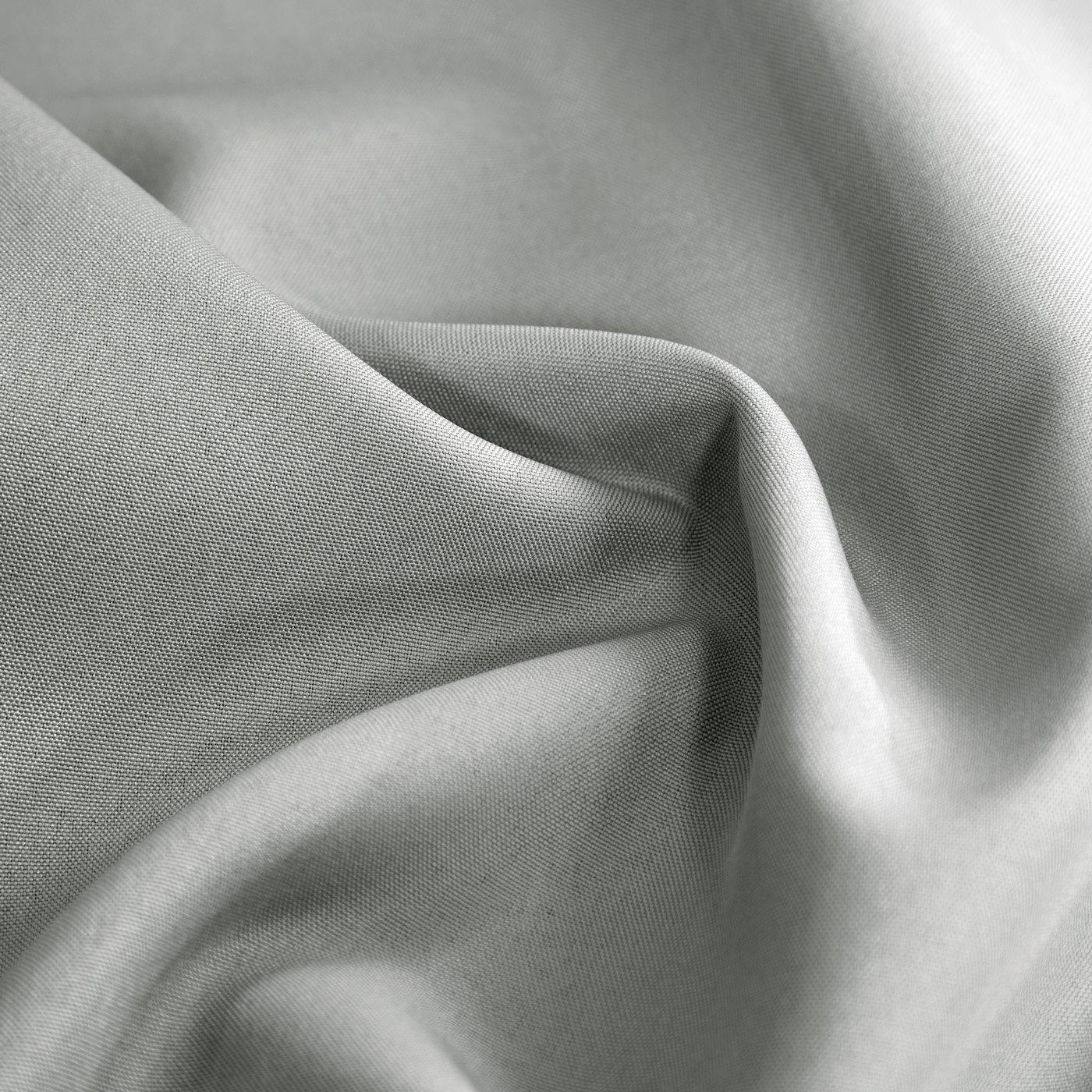 Zasłona gładka w kolorze STALOWYM przelotki 140x250 cm