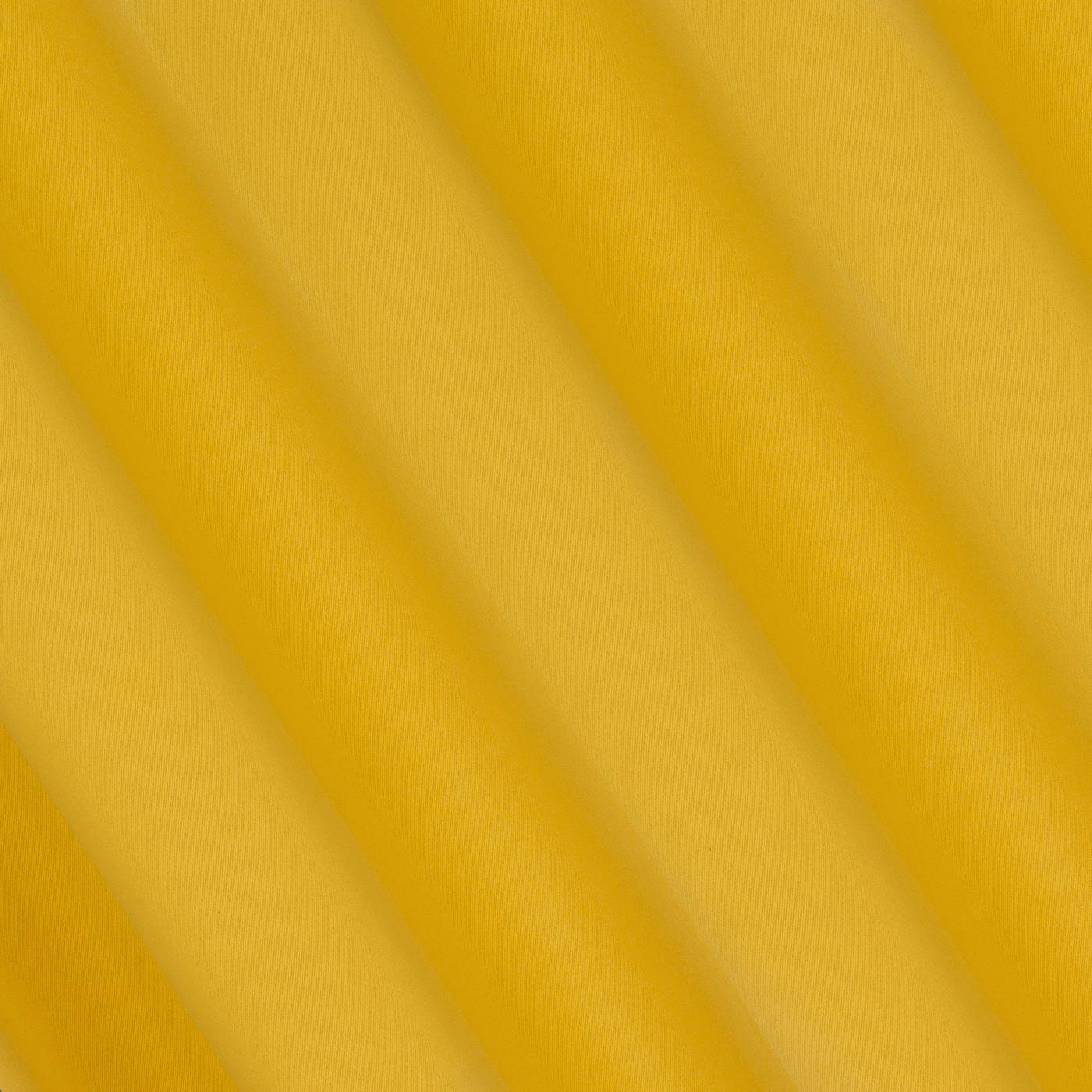 Musztardowa zasłona zaciemniająca 135x250 przelotki