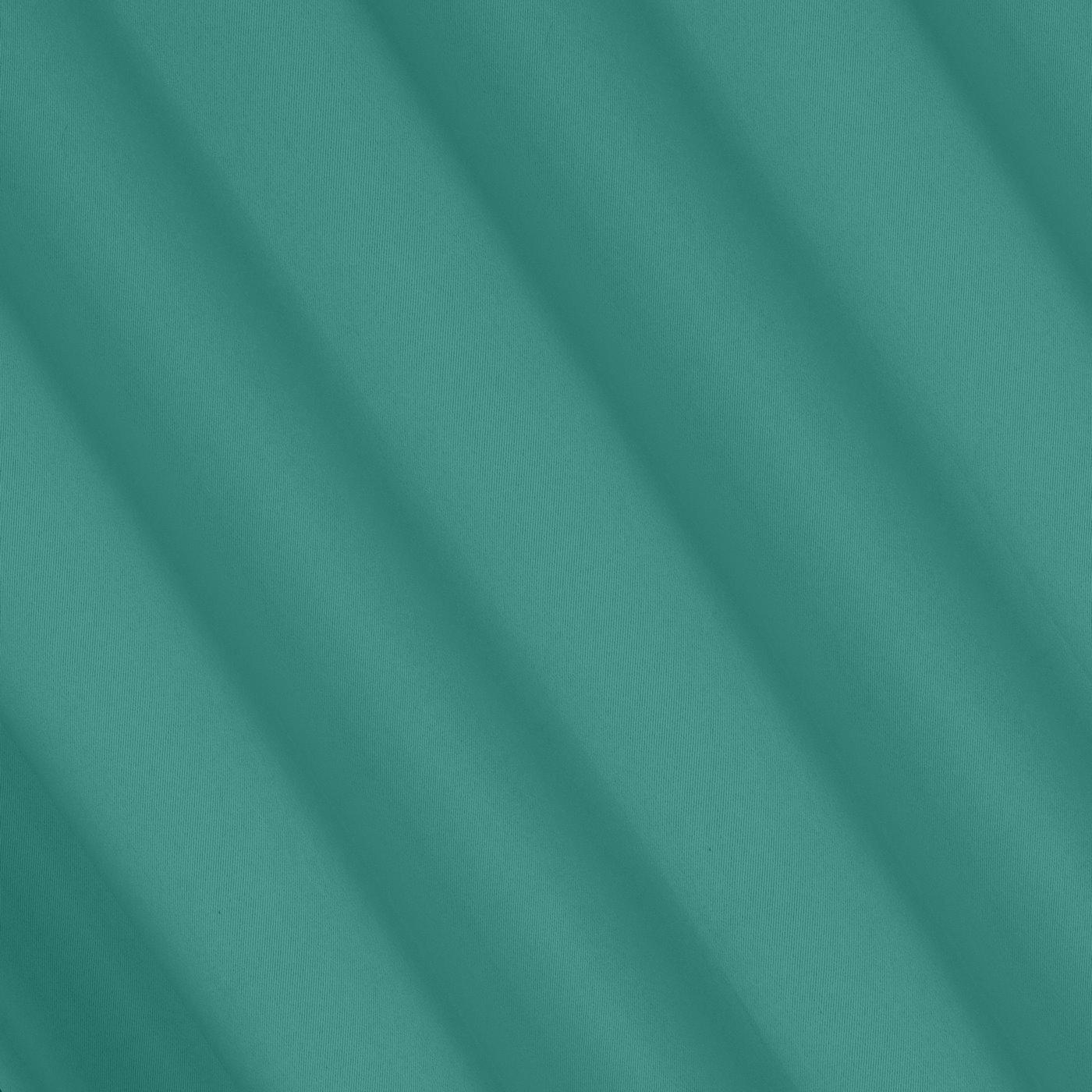 Gładka zasłona zaciemniająca turkusowa 135x250 przelotki