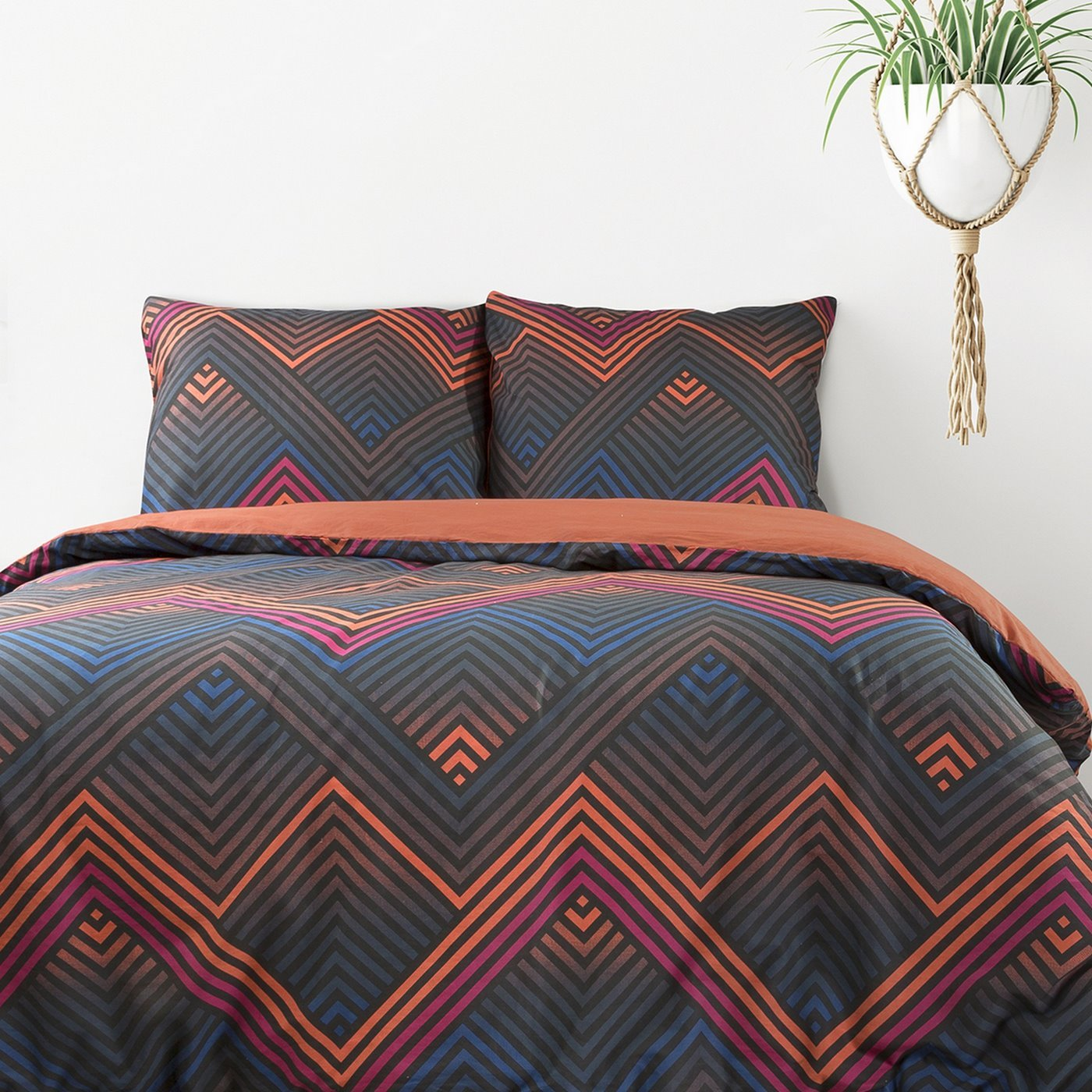 Komplet pościeli bawełnianej diego 160x200 2szt 70x80 styl nowoczesny