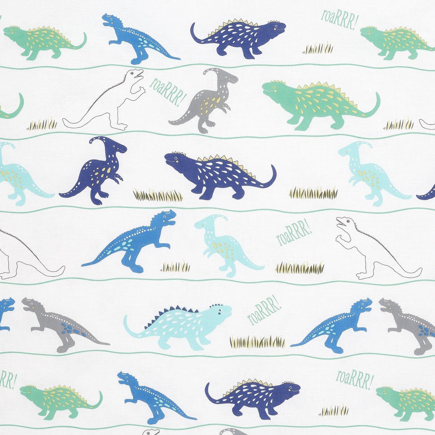 Komplet pościeli bawełnianej DINO 160x200 2szt 70x80 dziecięca pościel w dinozaury