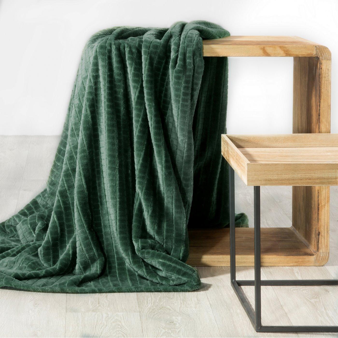 Cindy miękki koc z mikroflano zielony 70x160 cm Design 91