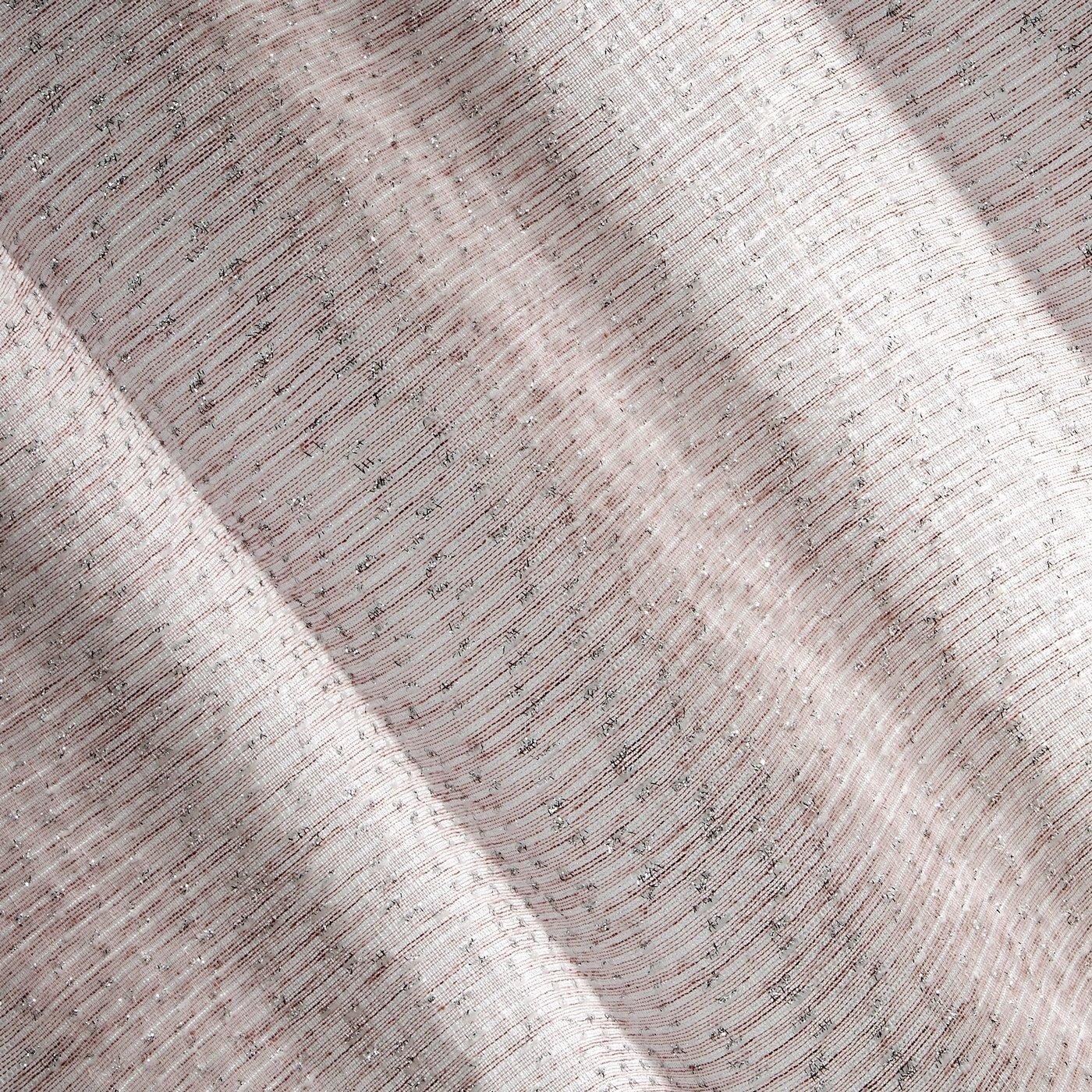 Różowa zasłona o strukturze szenilu na przelotkach 140x250 cm