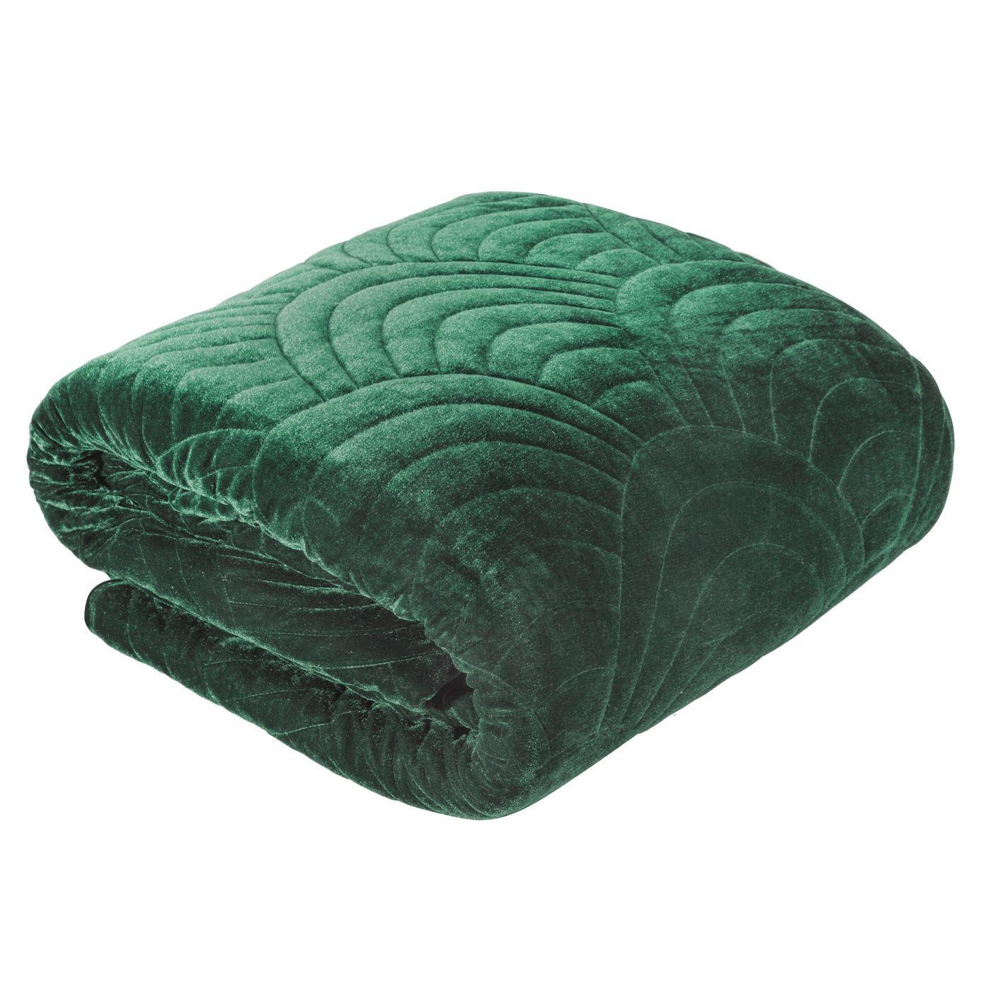 Ekskluzywna narzuta do sypialni pikowana - mój wybór Eva Minge -zieleń 170x210 cm