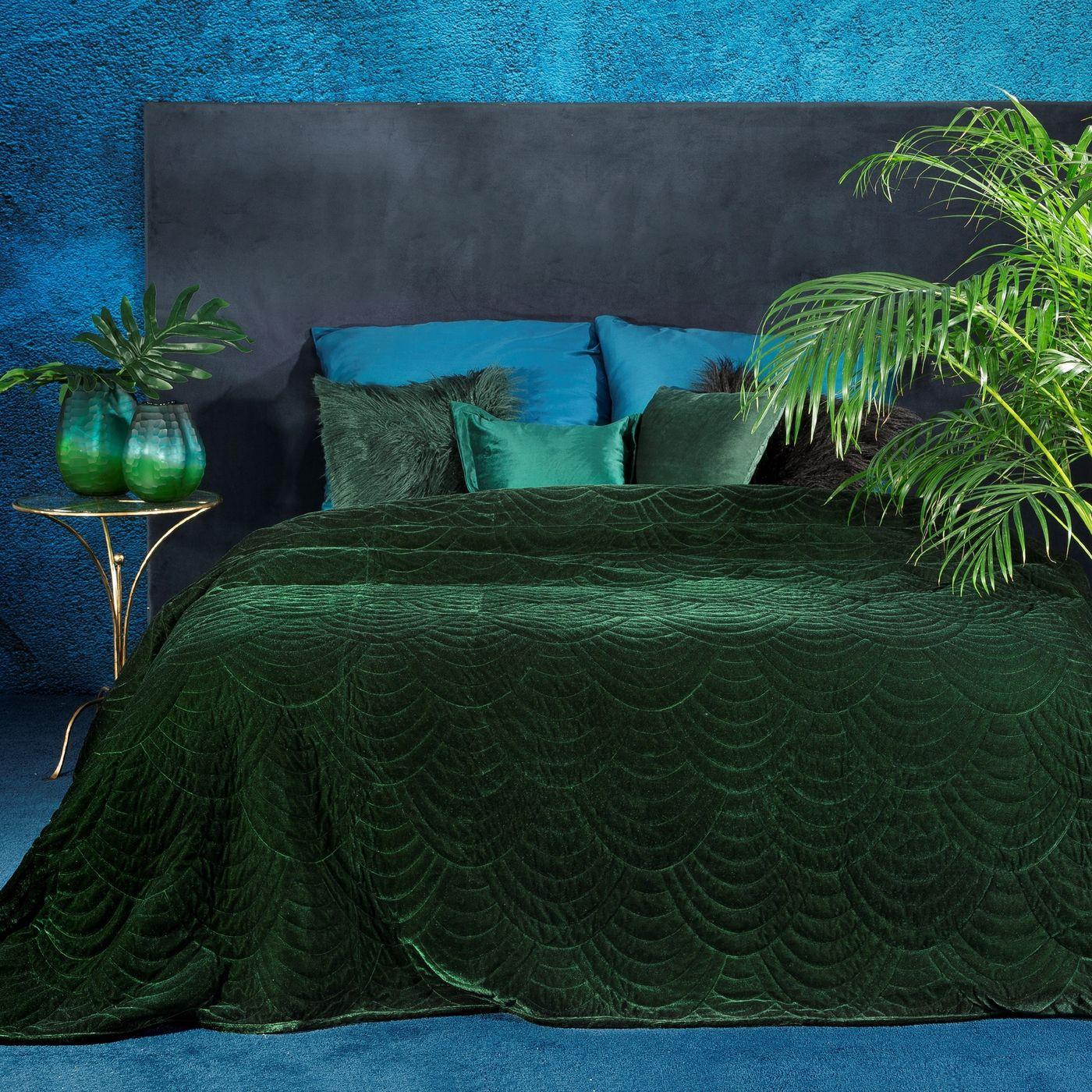 Ekskluzywna narzuta do sypialni pikowana - mój wybór Eva Minge - zielony 220x240 cm