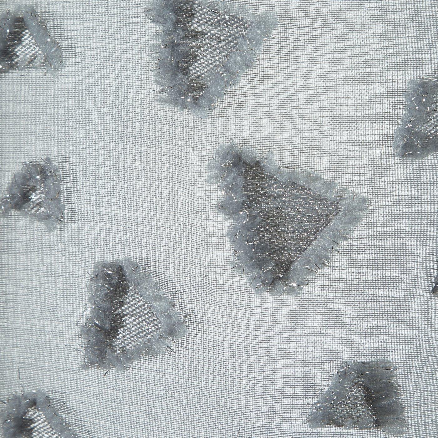 Zasłona w kolorze STALOWYM ze srebrnymi akcentami przelotki 140x250 cm