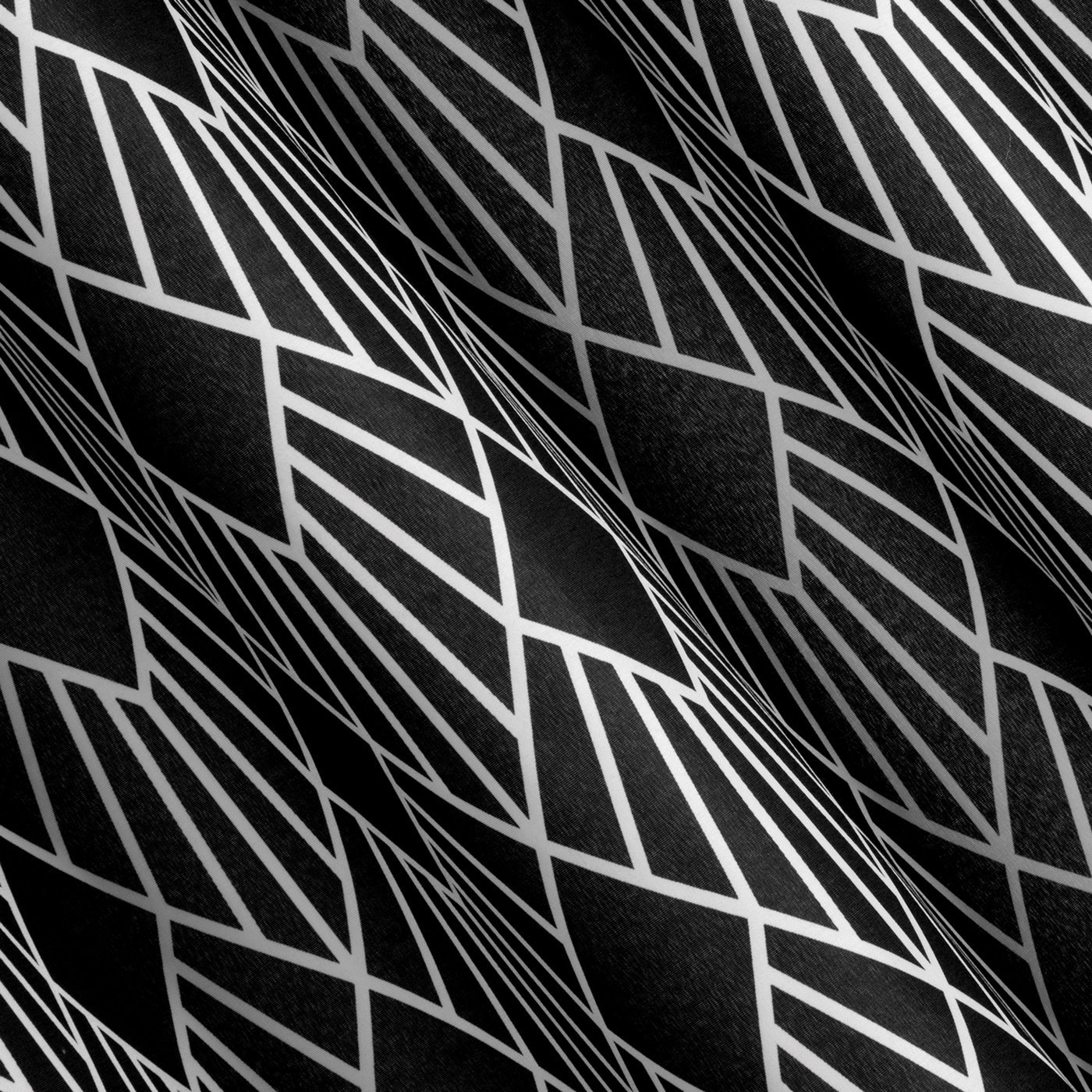 Nowoczesne zasłony geometryczny wzór 140x250 przelotki