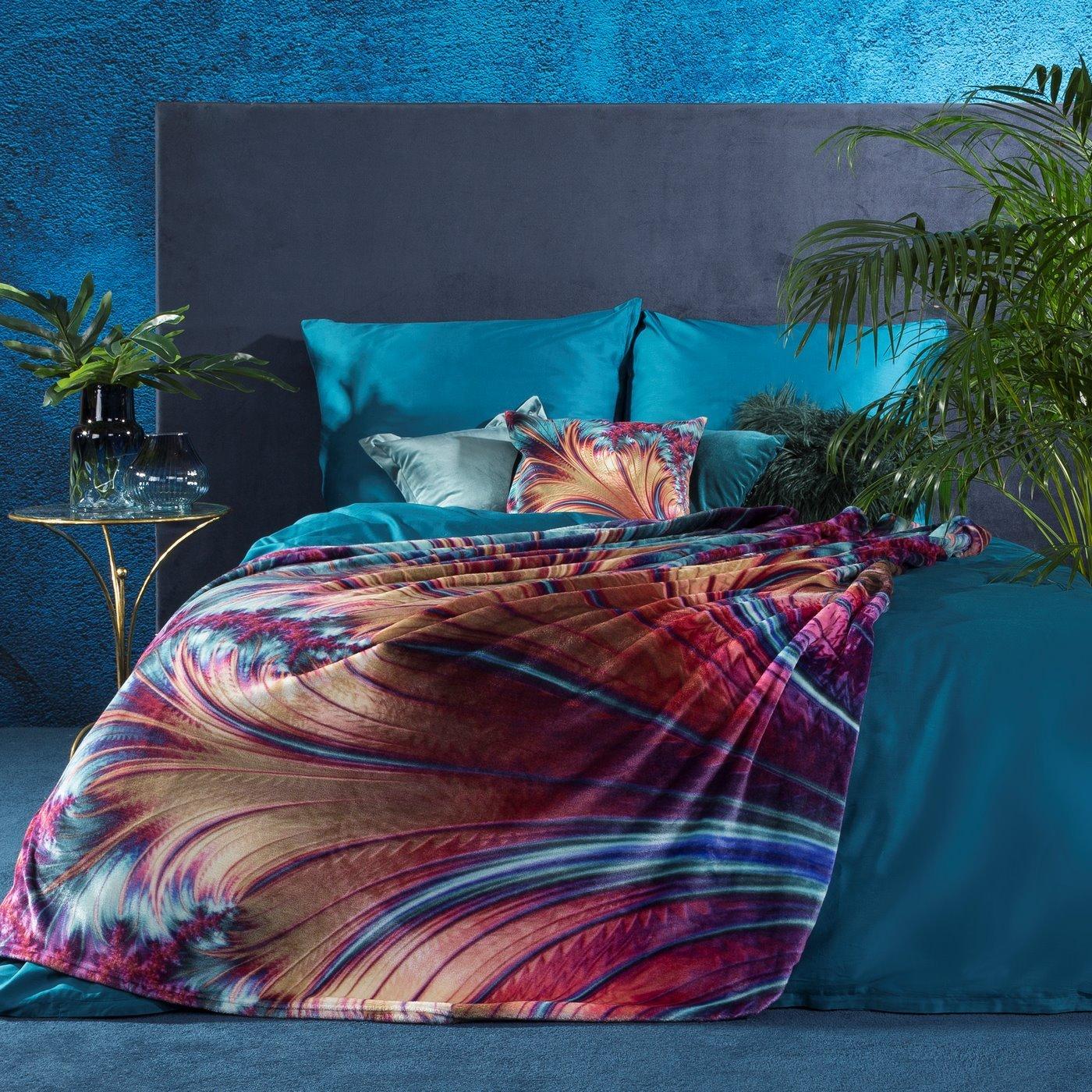 Ekskluzywny miękki koc - mój wybór Eva Minge - 150x200 fiolet i turkus