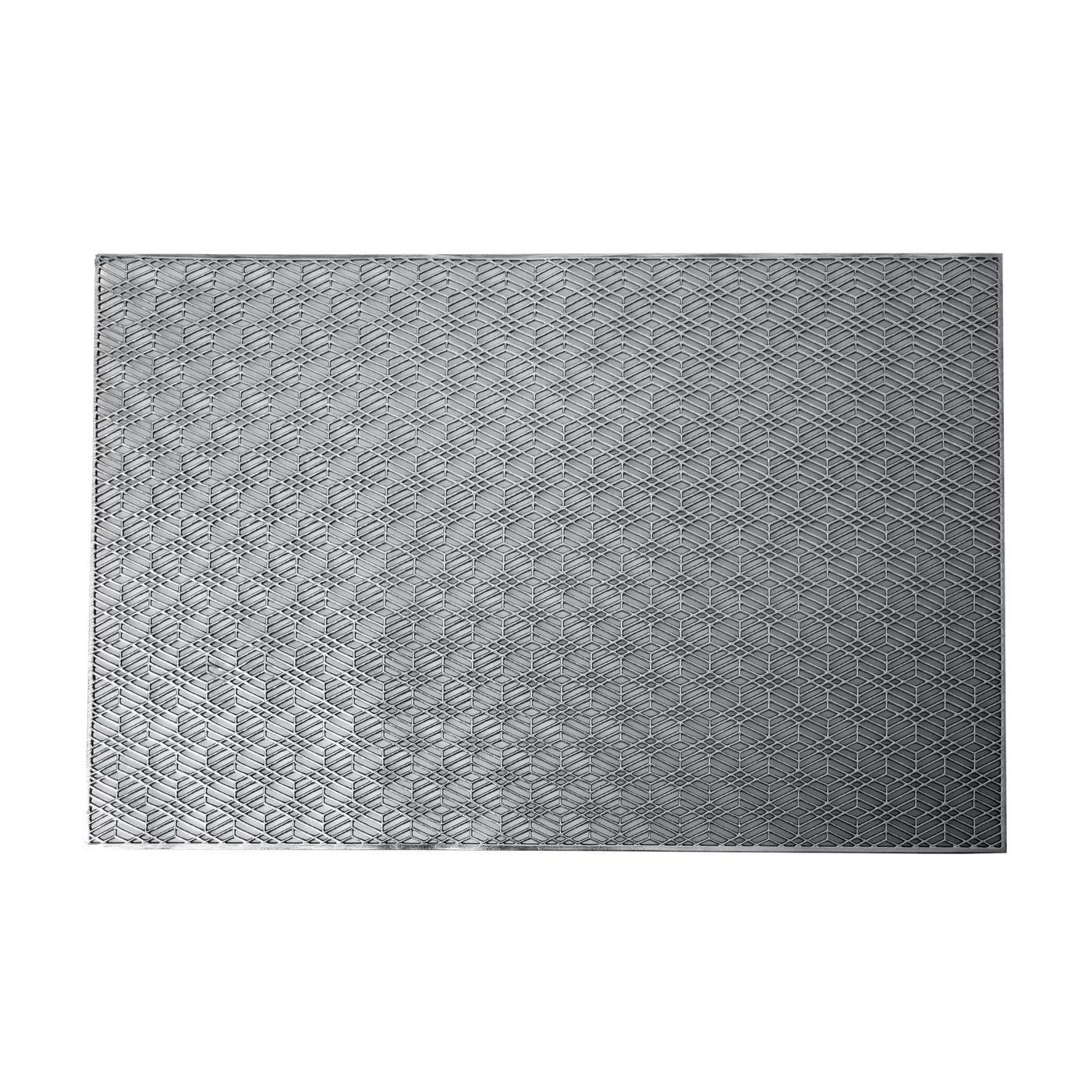 Ażurowa podkładka stołowa srebrna wzór geometryczny 45x30 cm