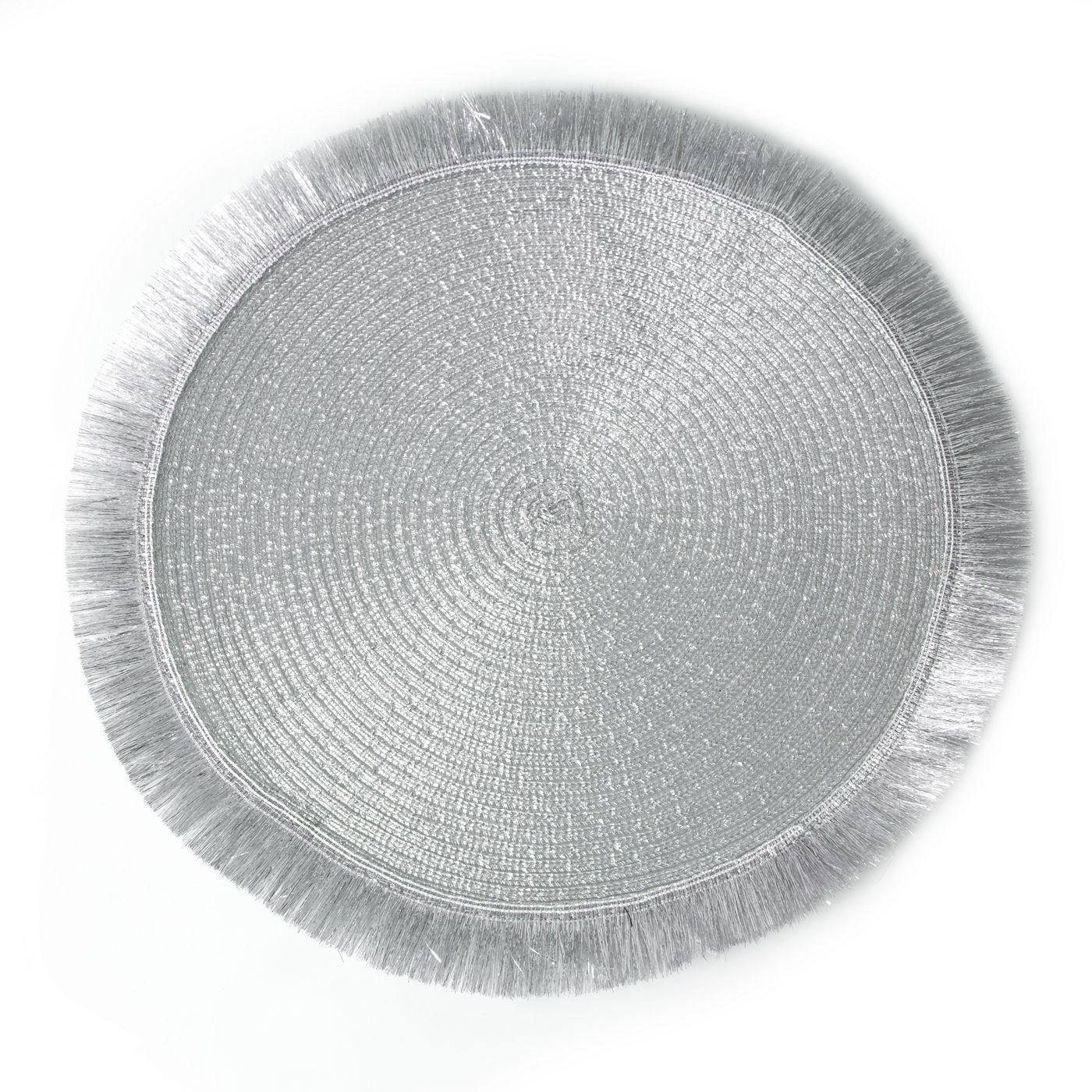 Srebrna podkładka stołowa okrągła średnica 38 cm