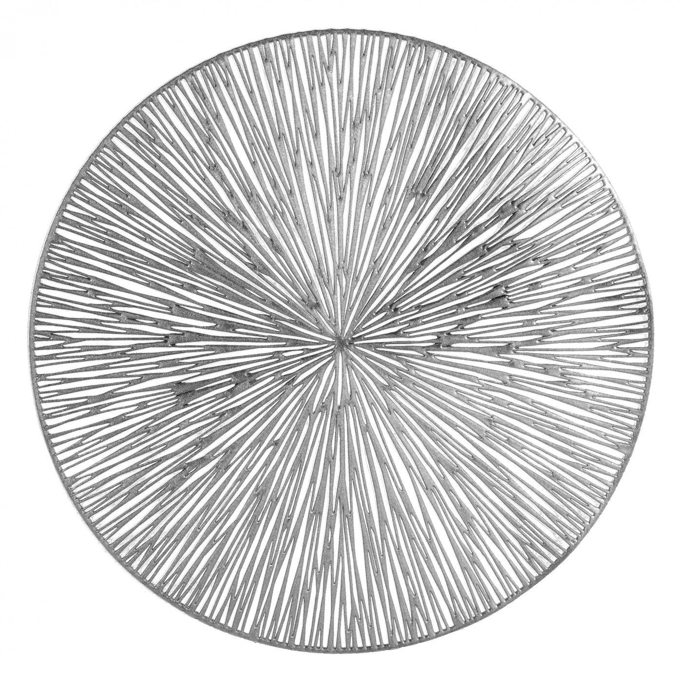 Okrągła podkładka stołowa ażurowa srebrna średnica 38 cm