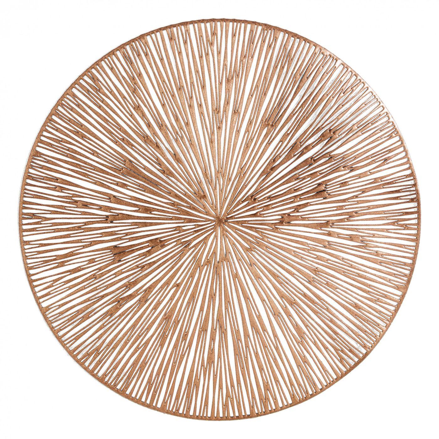 Okrągła podkładka stołowa ażurowa miedziana średnica 38 cm