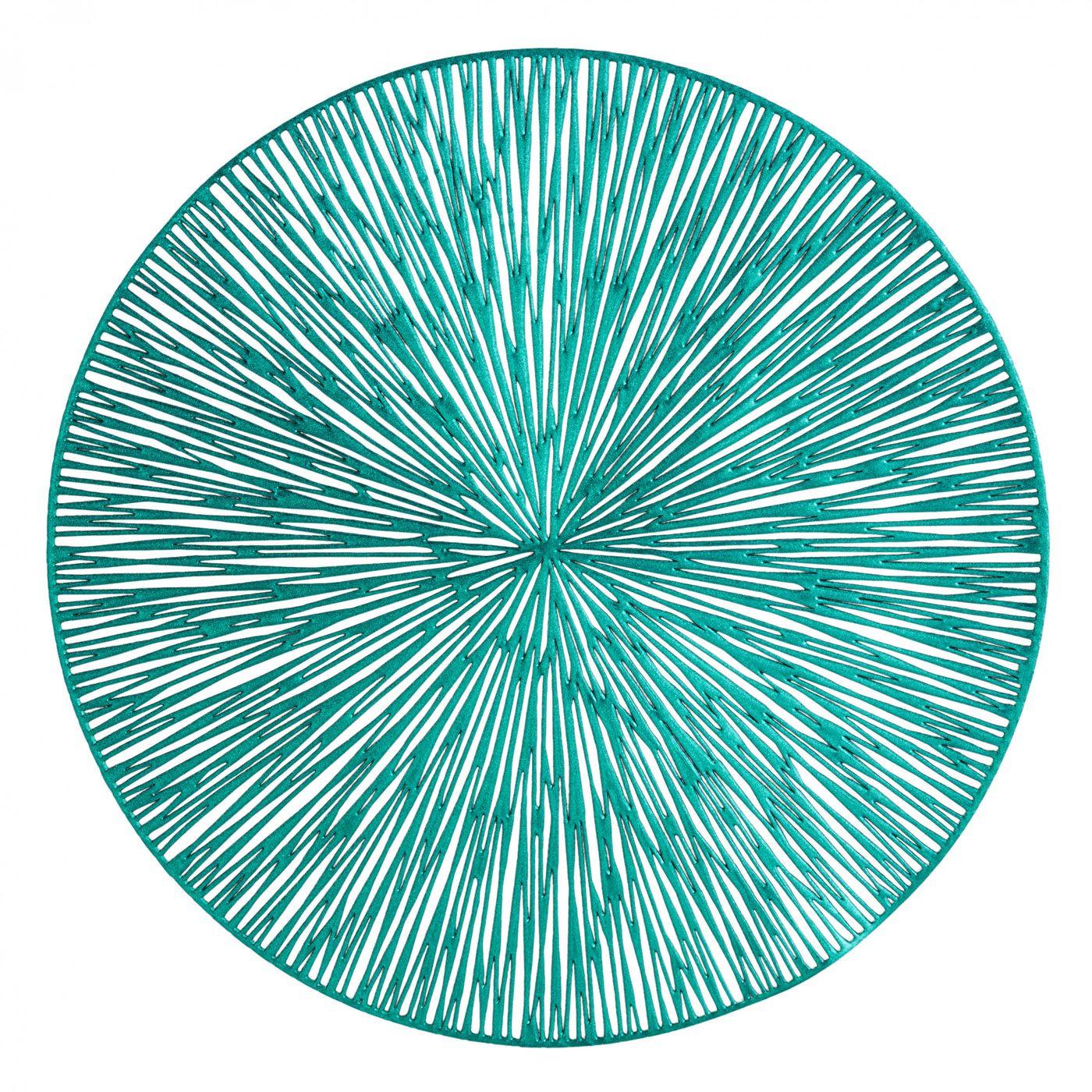 Okrągła podkładka stołowa ażurowa turkusowy średnica 38 cm