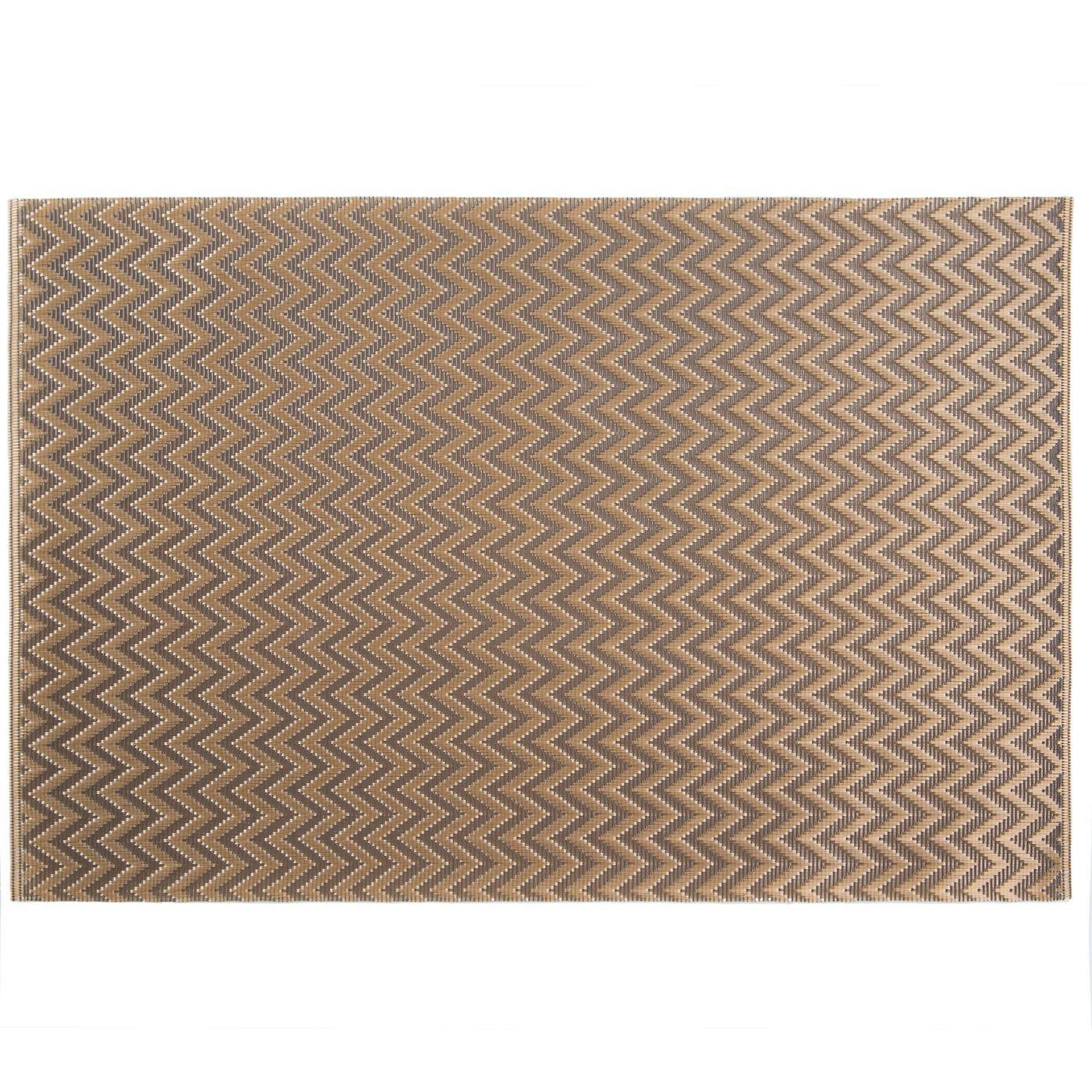 Strukturalna podkładka stołowa w zygzak złota 30x45 cm