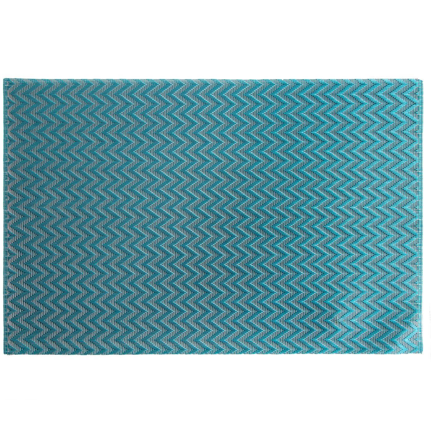 Strukturalna podkładka stołowa w zygzak niebieska 30x45 cm