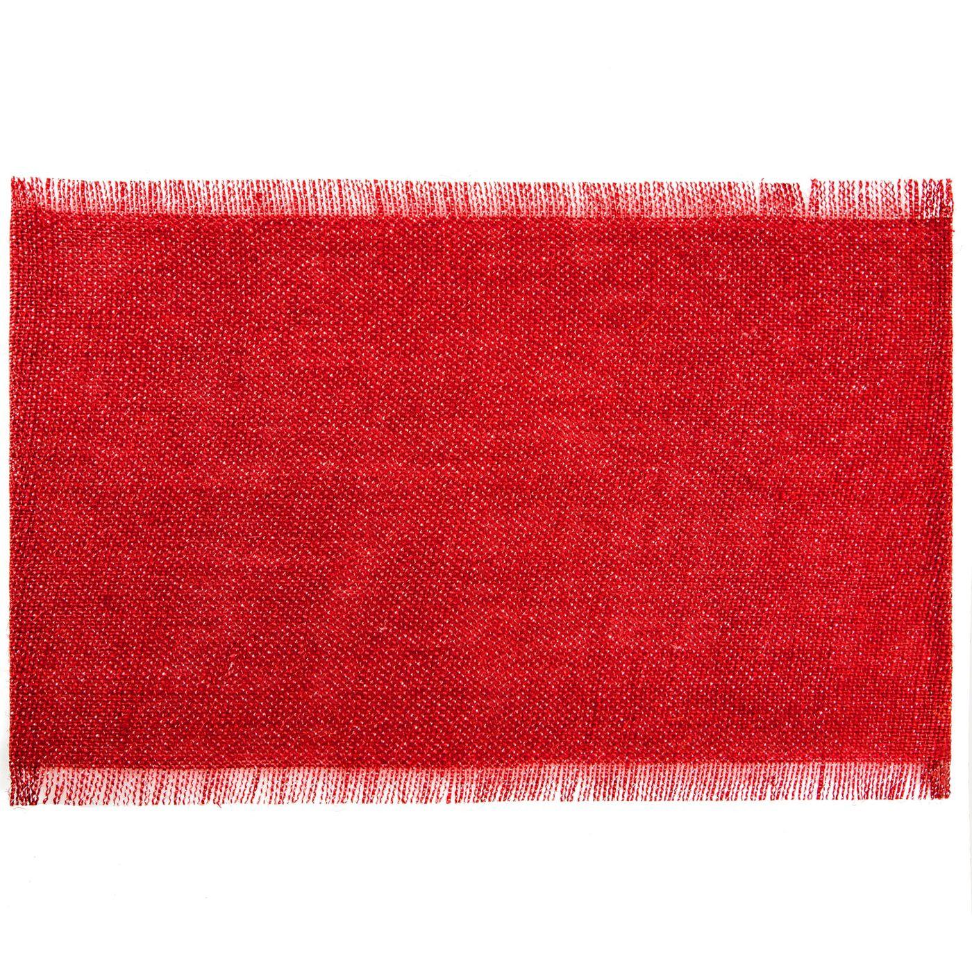 Czerwona podkładka stołowa z frędzlami 30x45 cm