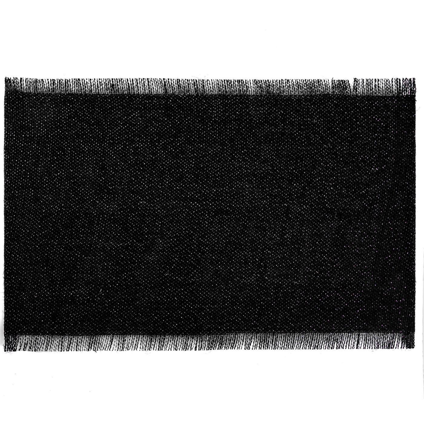 Czarna podkładka stołowa z frędzlami 30x45 cm