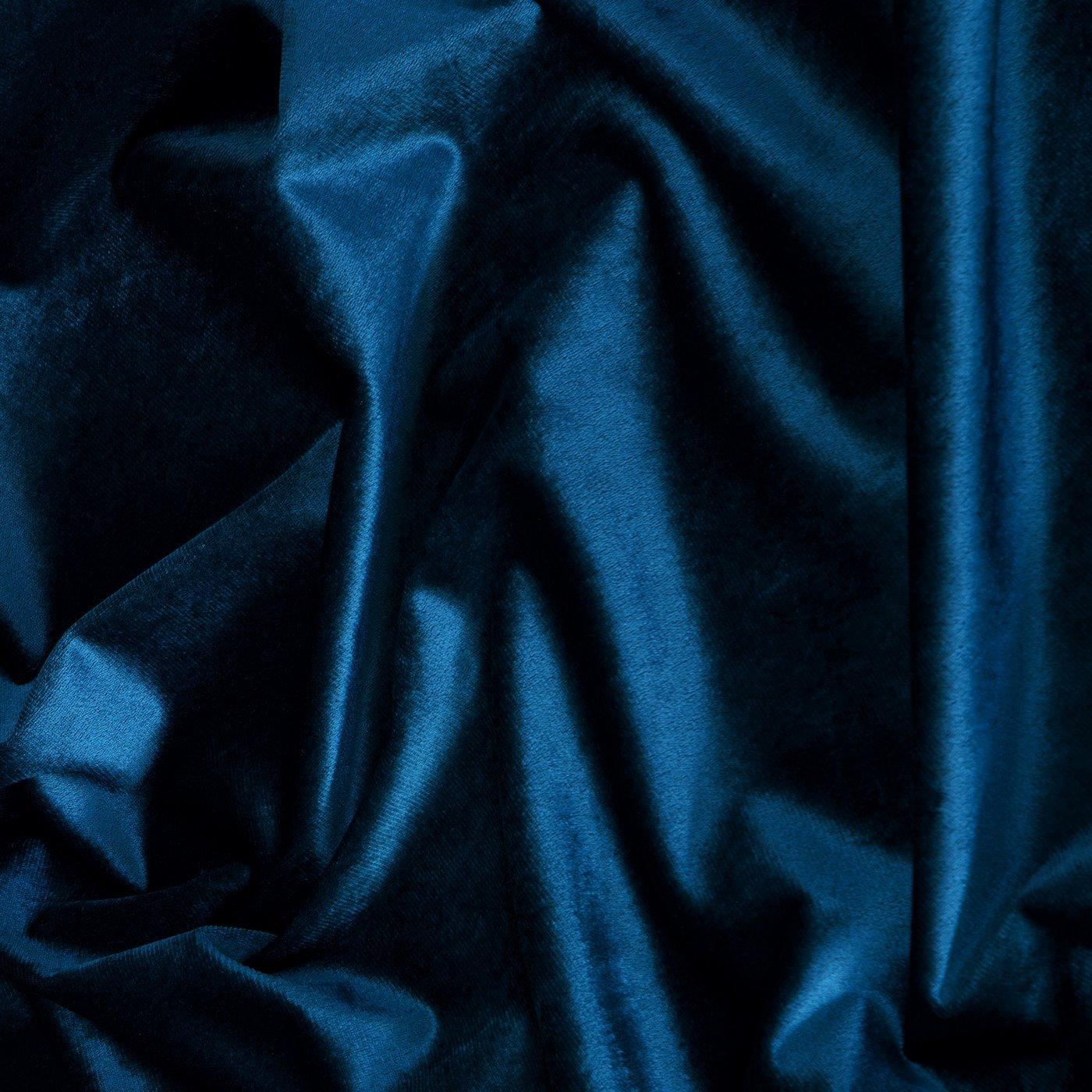 Zasłona WELWETOWA na przelotkach GRANATOWA 140x250
