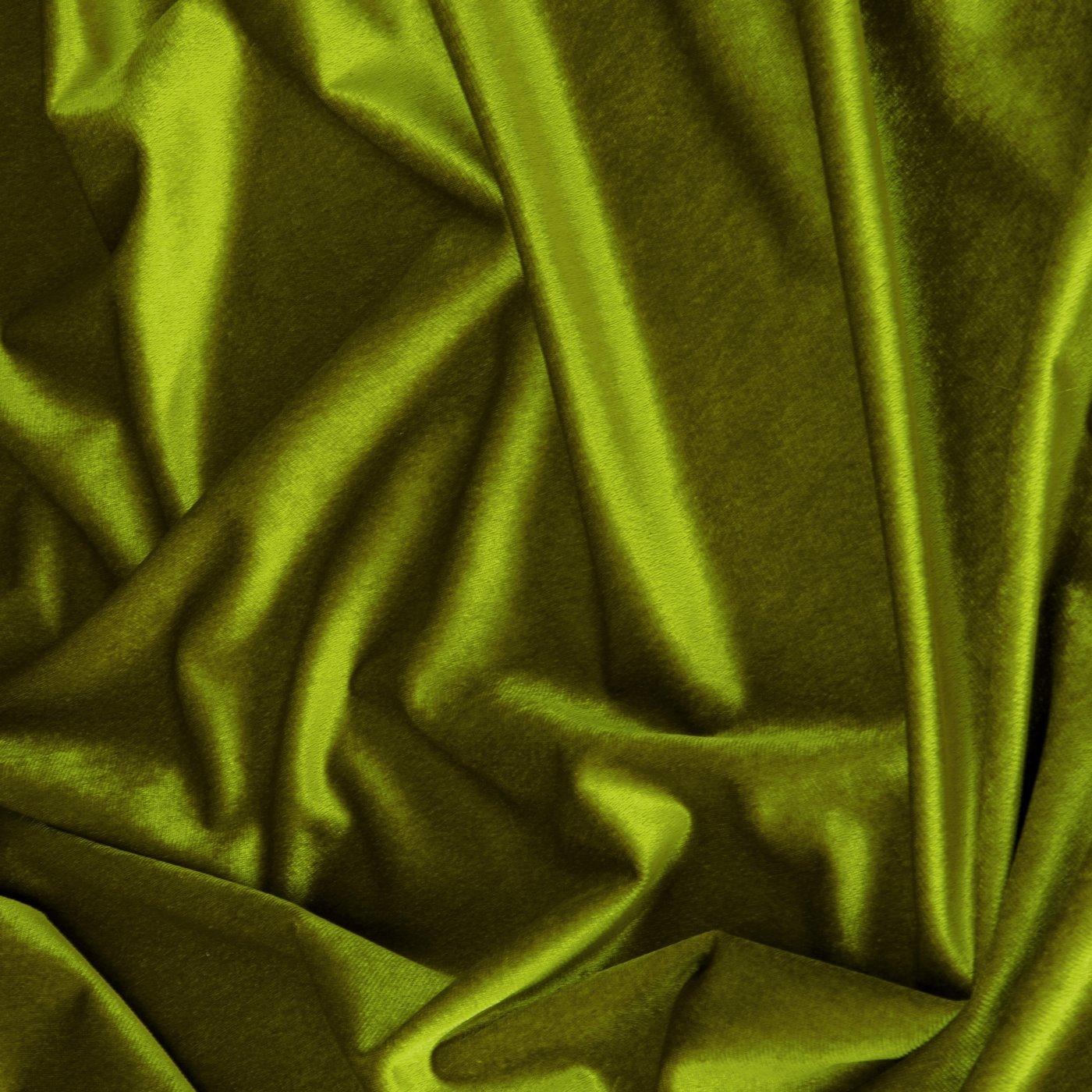 Zasłona WELWETOWA na przelotkach OLIWKOWA 140x250